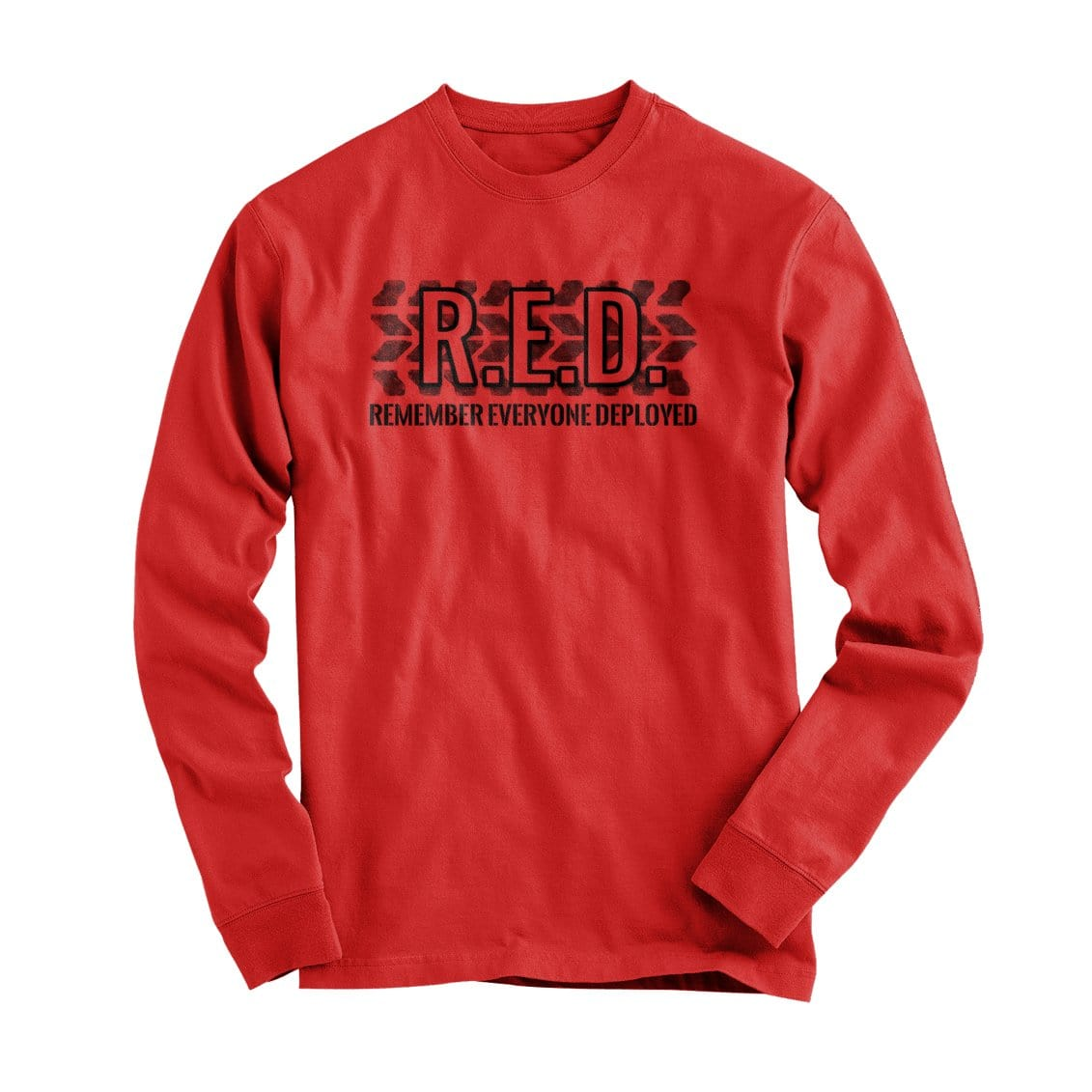 R.E.D. - Long Sleeve - Red - T-Shirts - Pipe Hitters Union