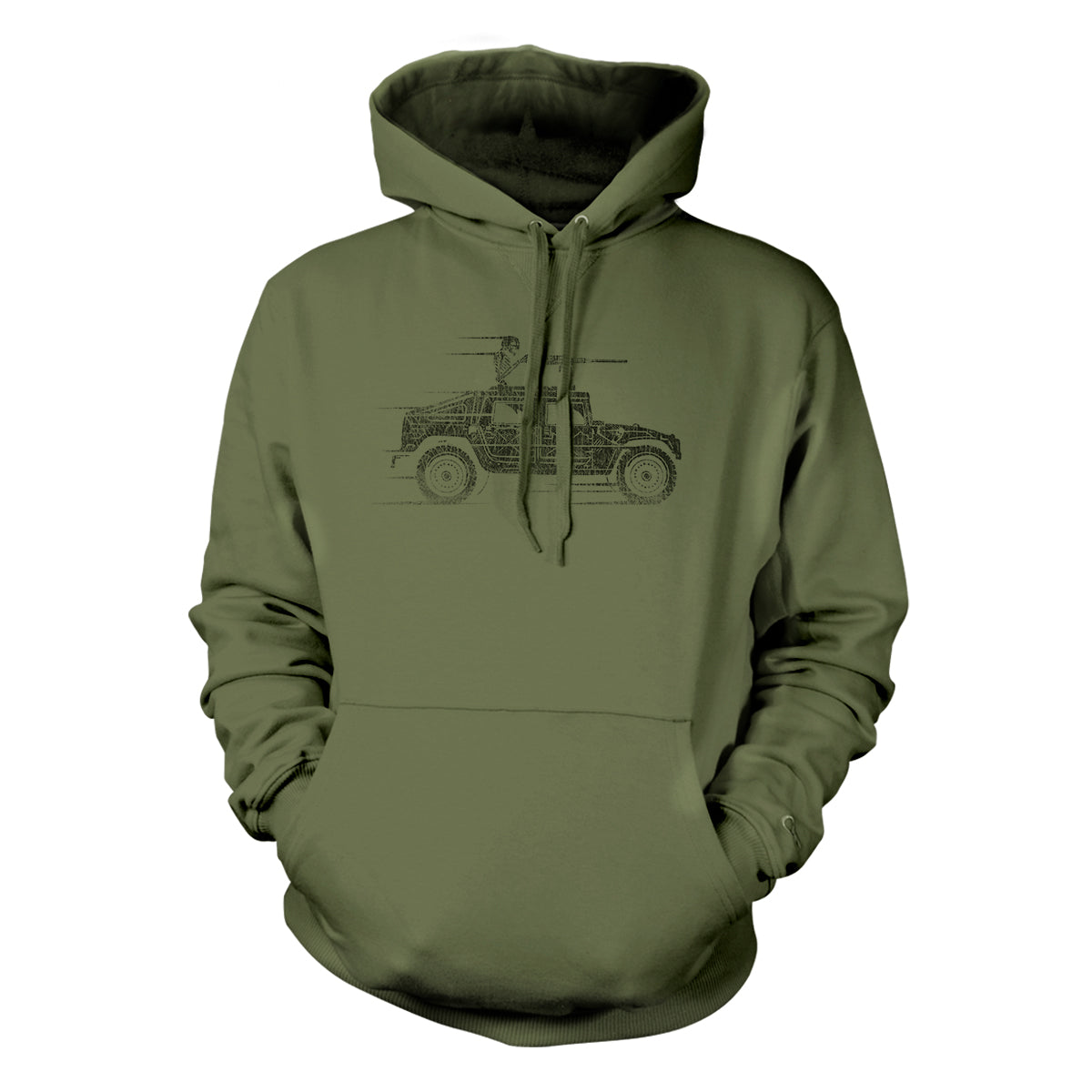 Reaper - Hoodie - Military Green - T-Shirts - Pipe Hitters Union