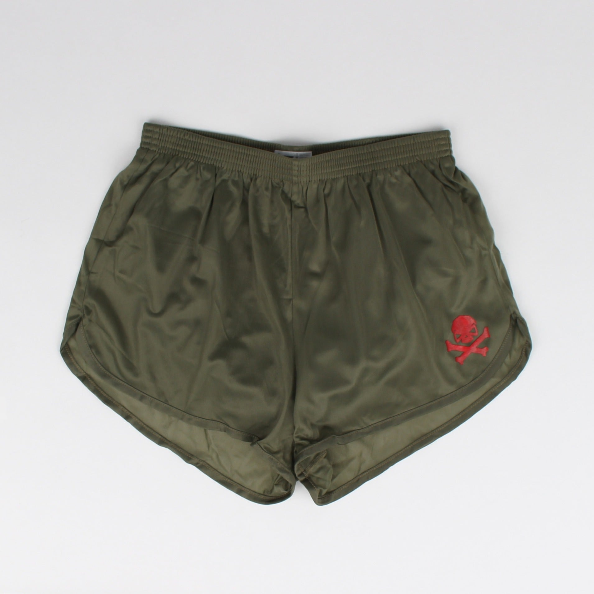 Silkies - Olive with Red Logo