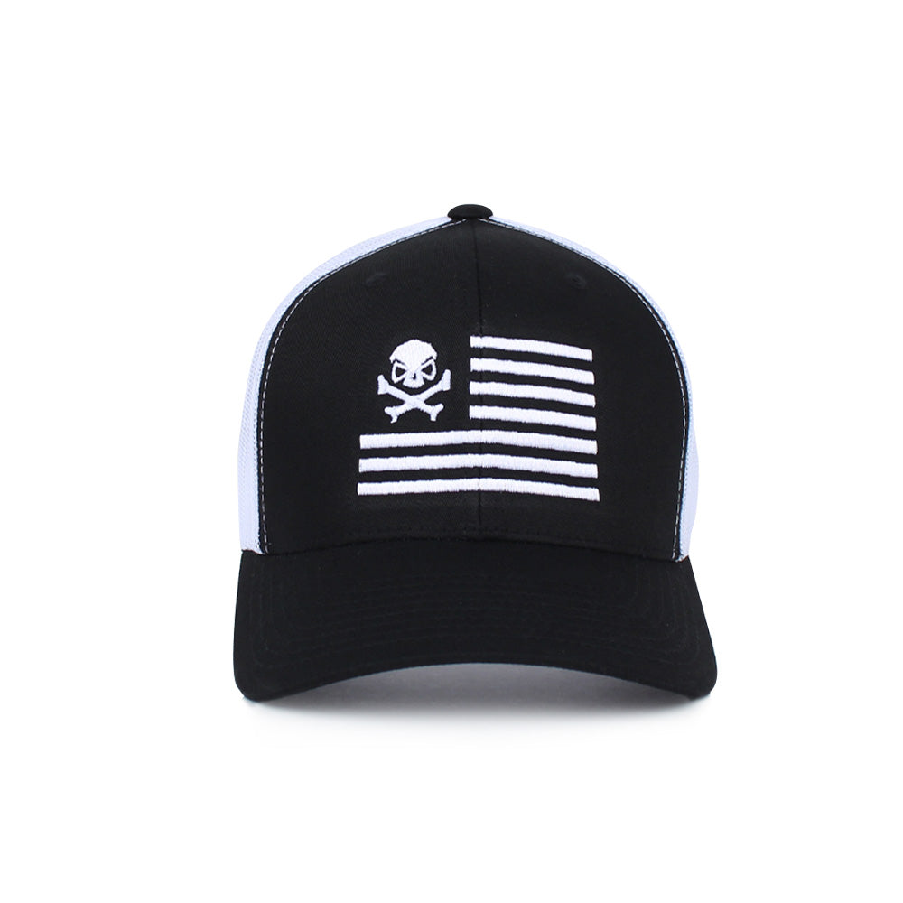 Skull American Flag Trucker - Pipe Hitters Union