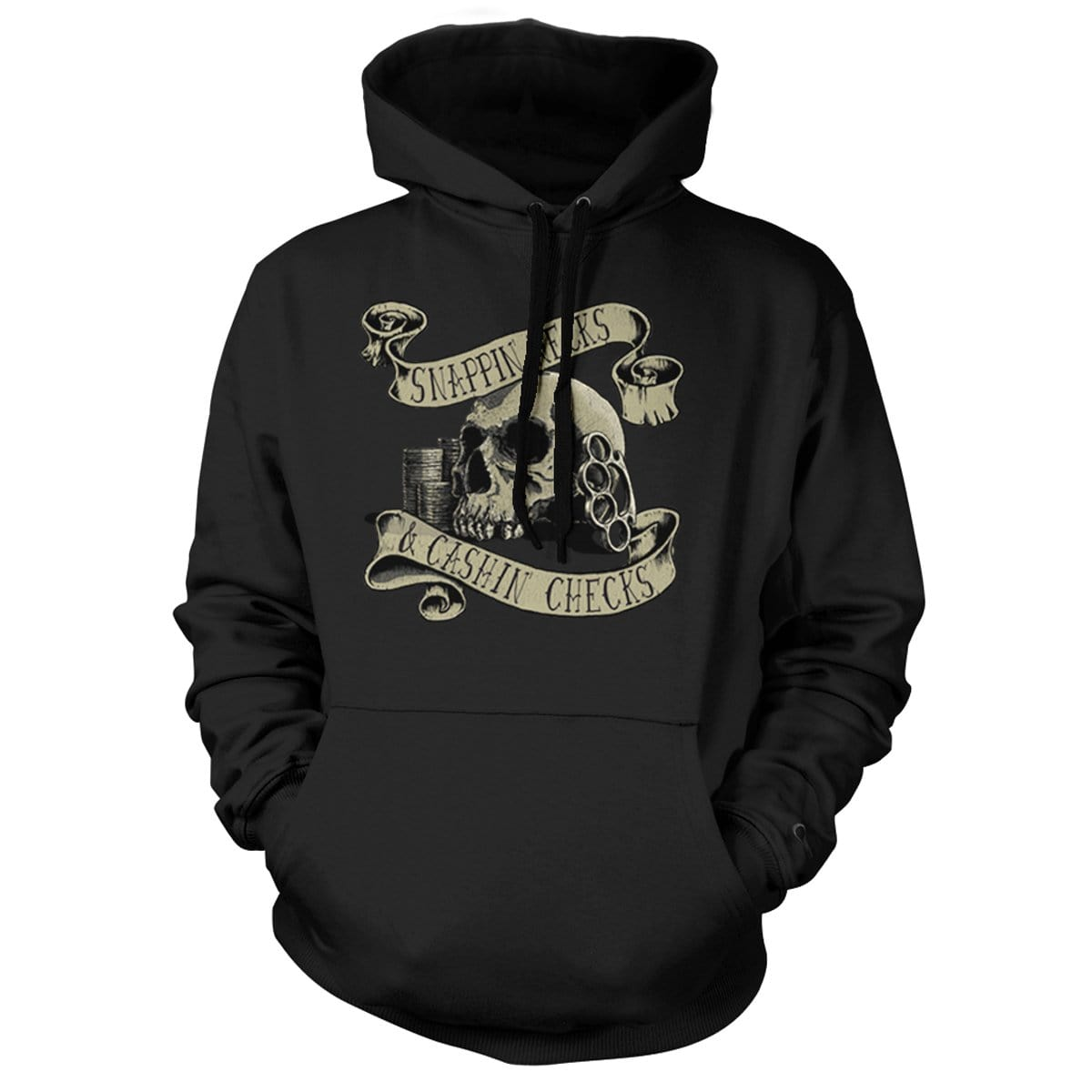 Snappin Necks Hoodie - Black - Hoodies - Pipe Hitters Union