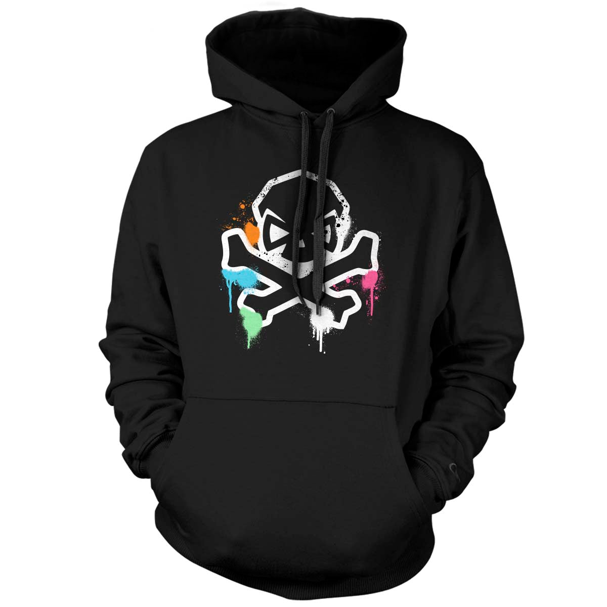 Spring Time Graffiti - Hoodie - Black - T-Shirts - Pipe Hitters Union
