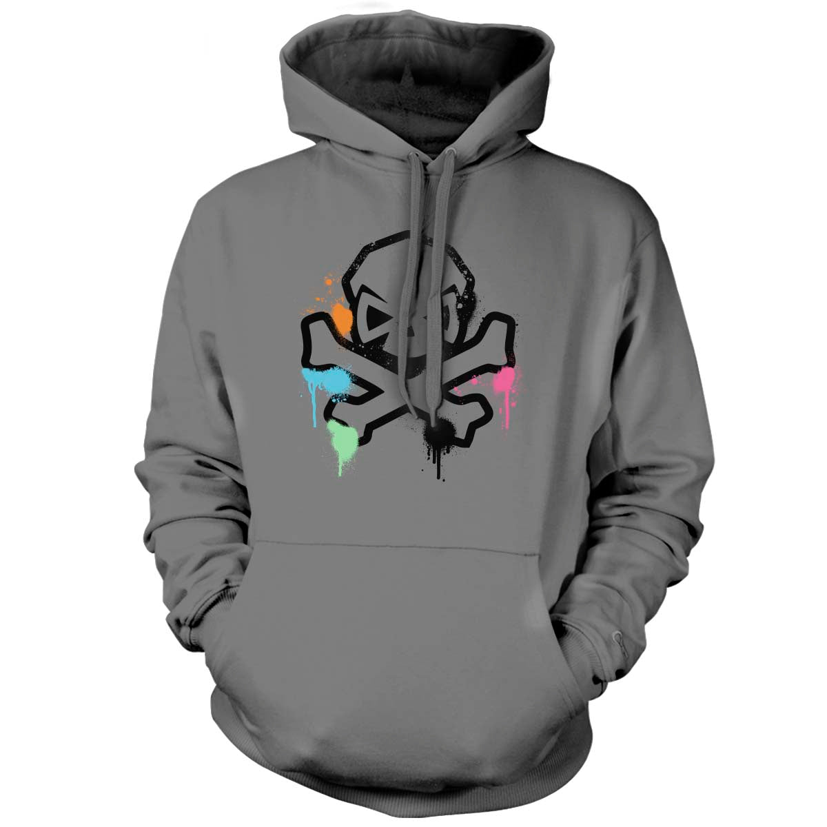 Spring Time Graffiti - Hoodie - Grey - T-Shirts - Pipe Hitters Union