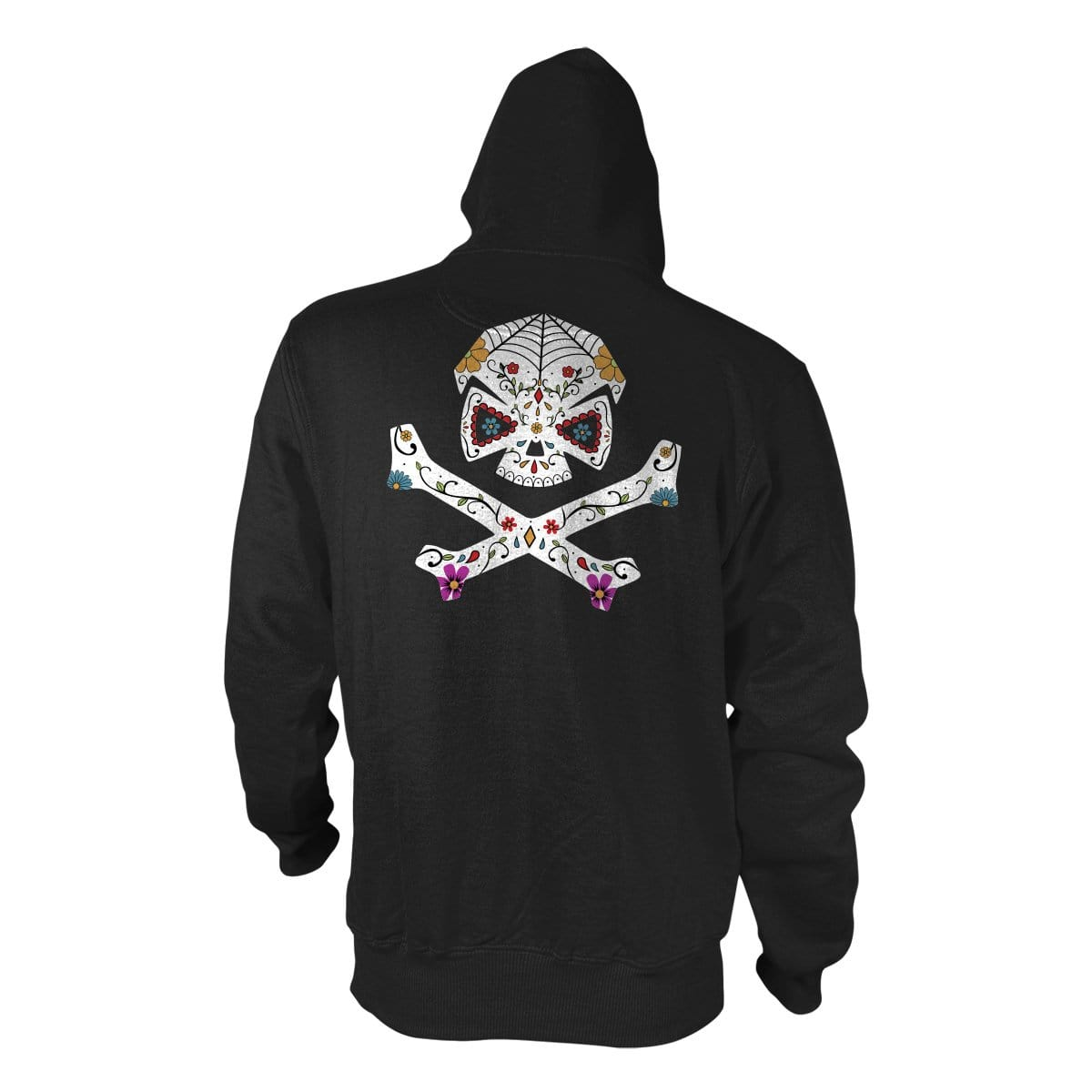Sugar Skull Hoodie - Black - Hoodies - Pipe Hitters Union