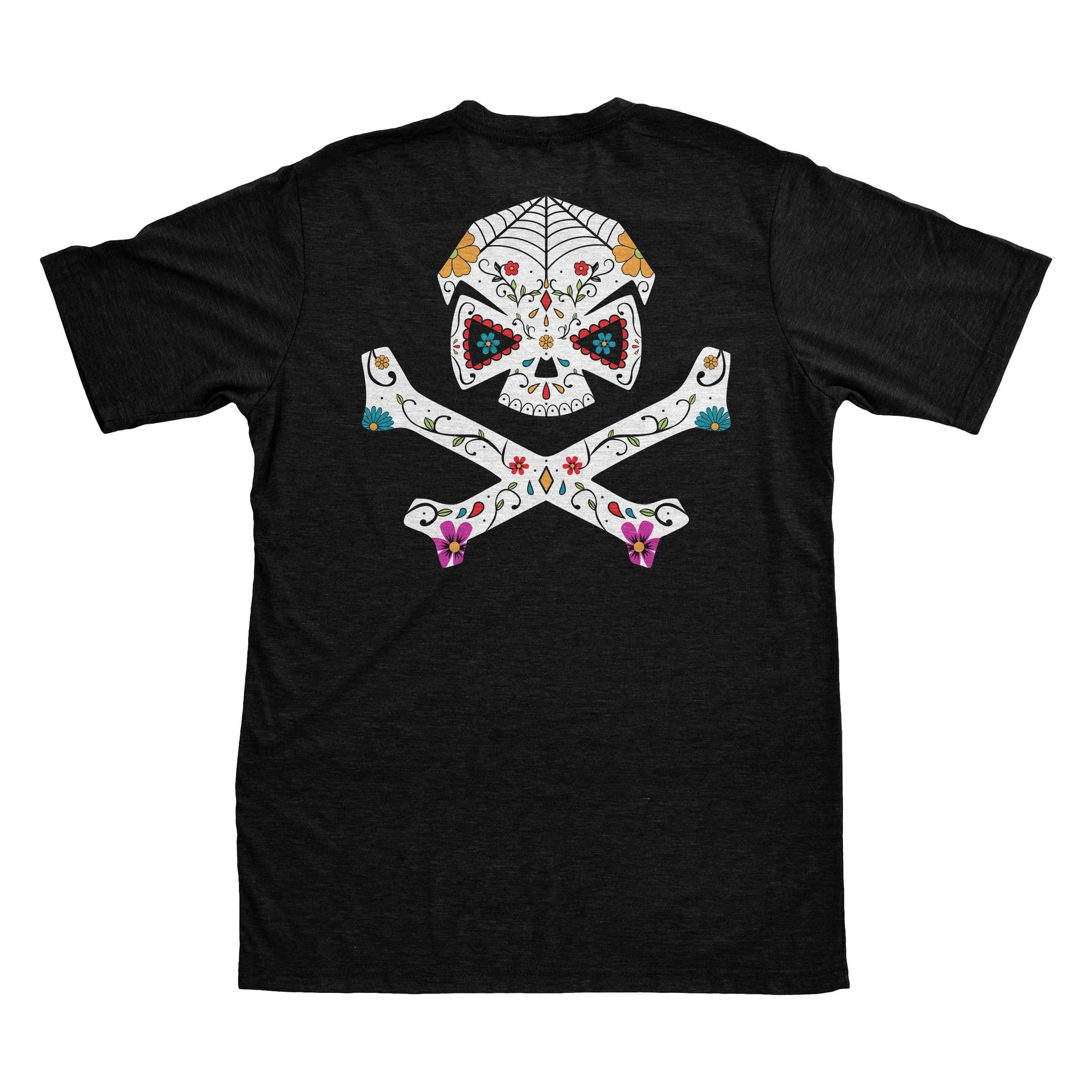 Sugar Skull - Black - T-Shirts - Pipe Hitters Union