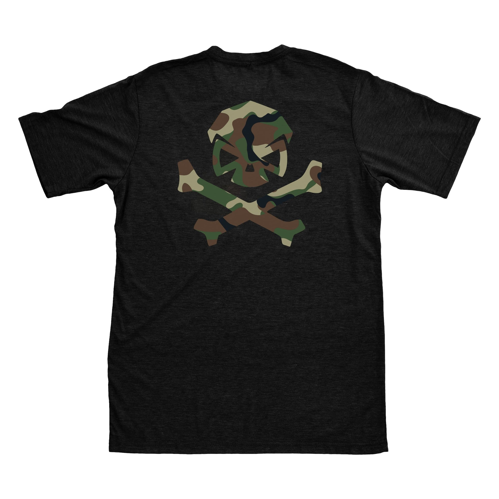 Woodland Camo Logo Tee - Black/Green_Woodland - T-Shirts - Pipe Hitters Union