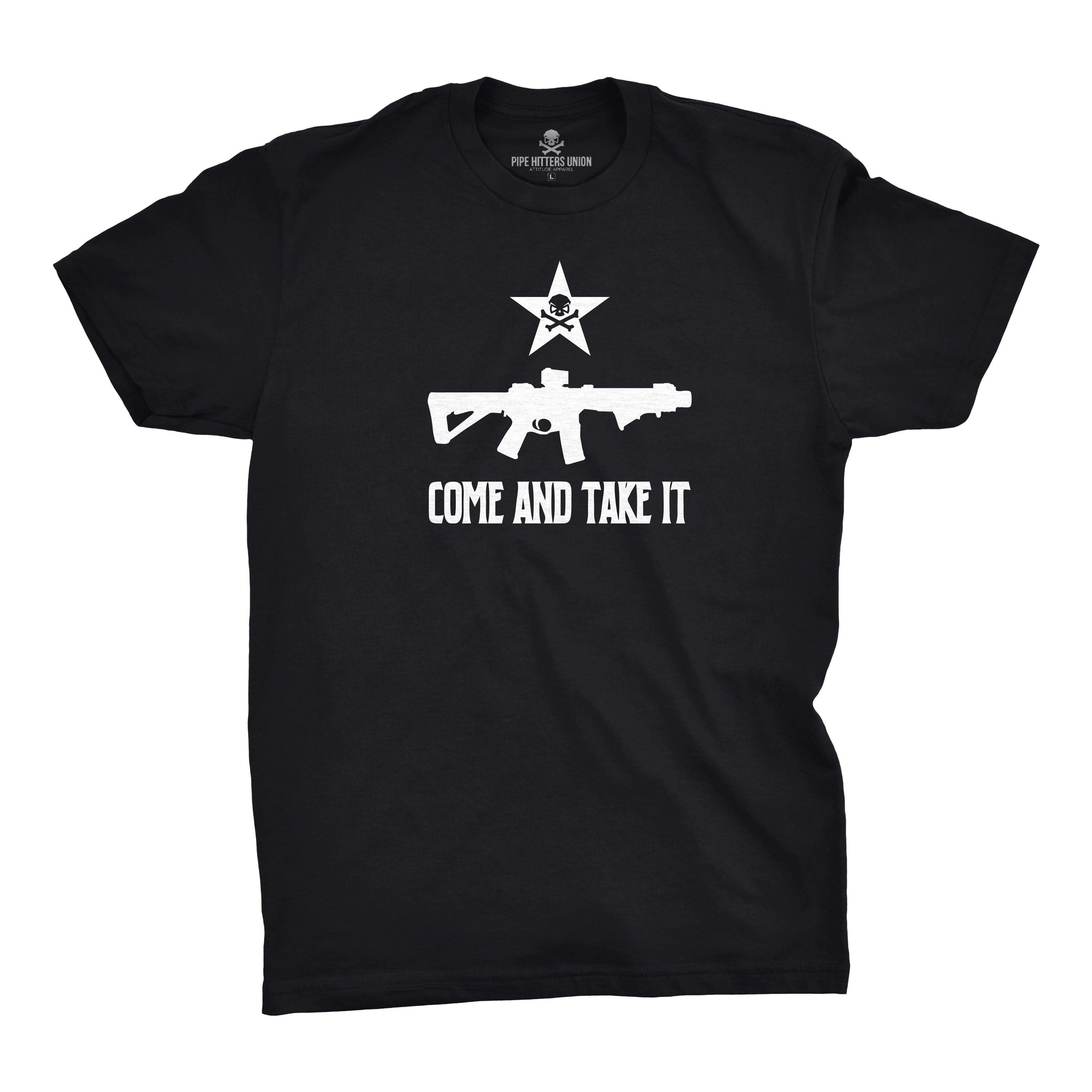 Come and Take It - Rifle - Black - T-Shirts - Pipe Hitters Union