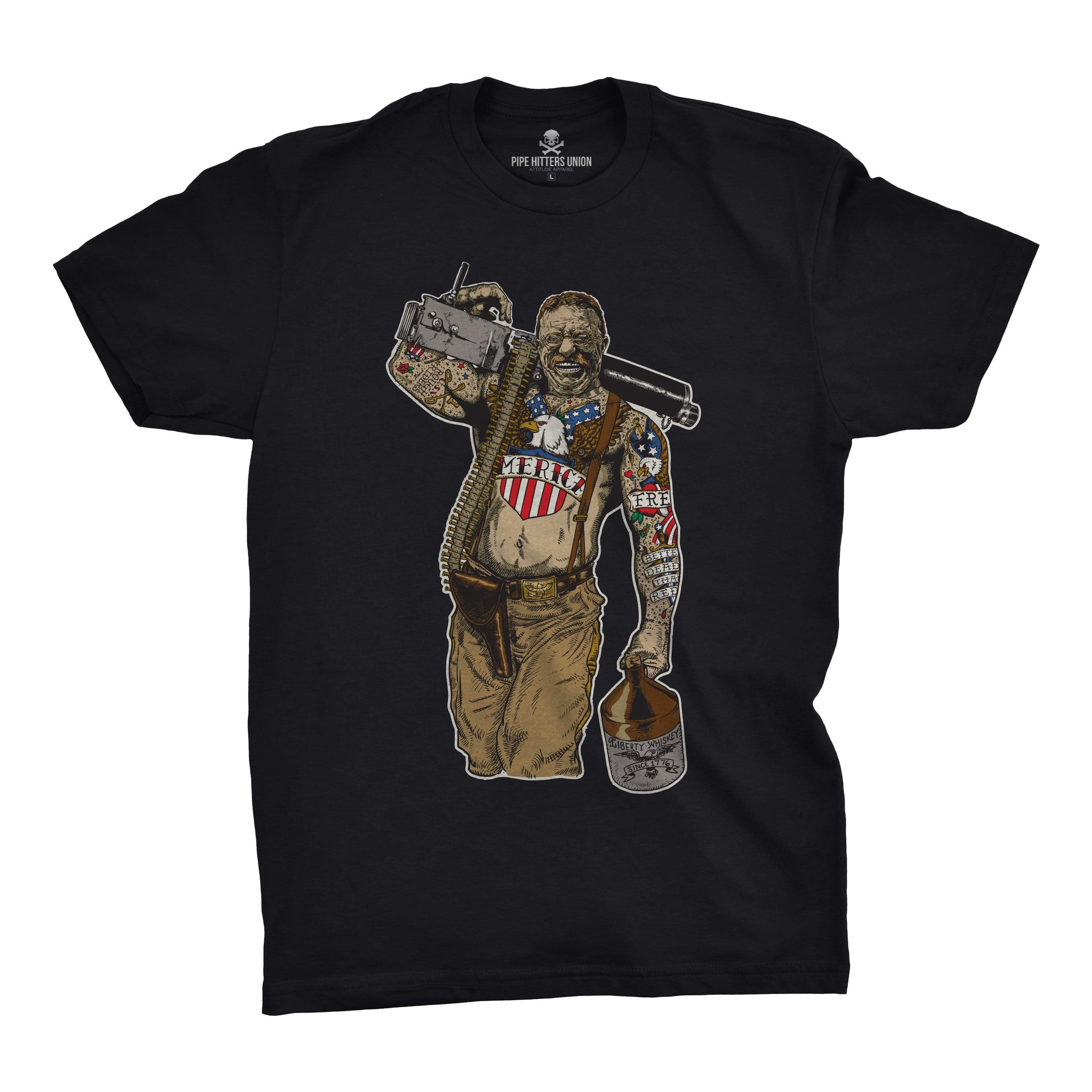Original Pipe Hitter - Teddy - Black - T-Shirts - Pipe Hitters Union