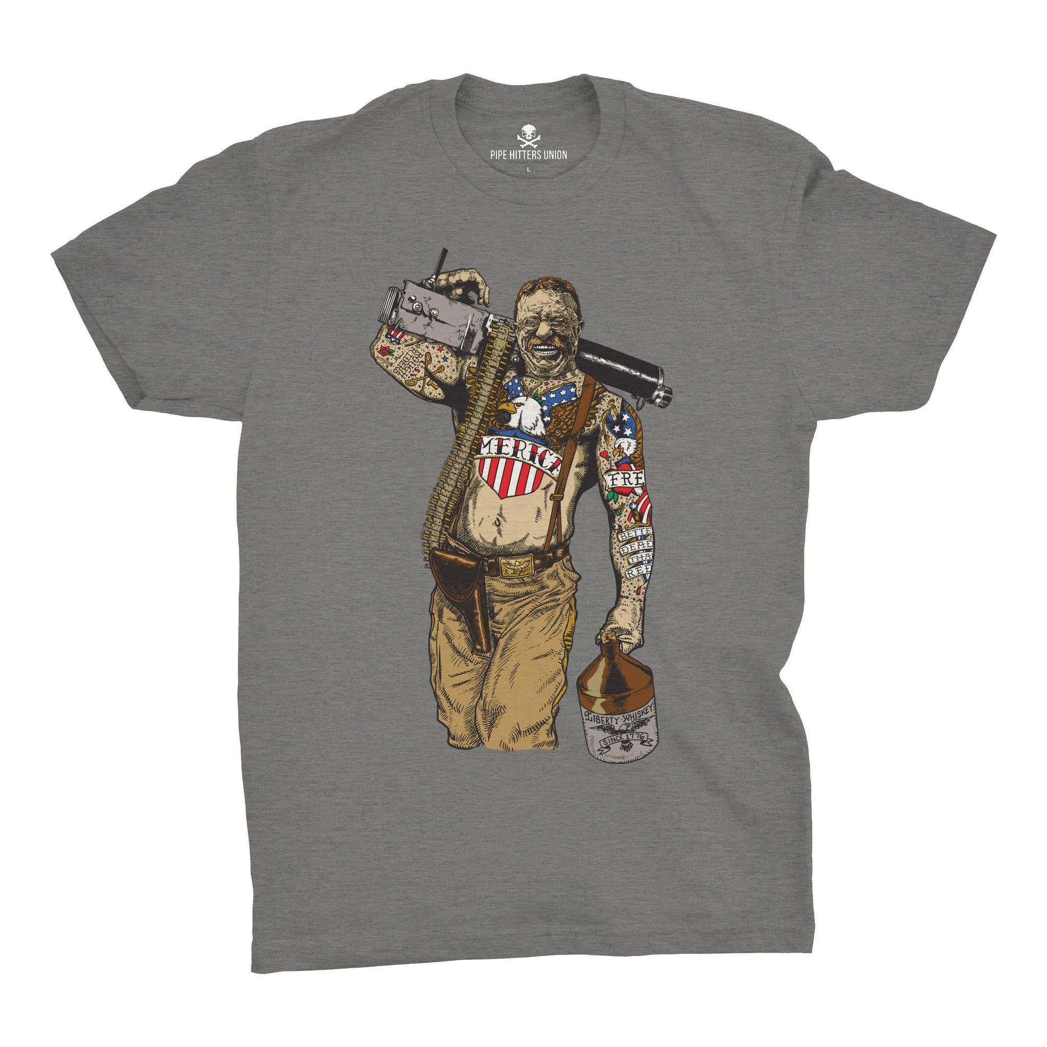 Original Pipe Hitter - Teddy - Grey - T-Shirts - Pipe Hitters Union