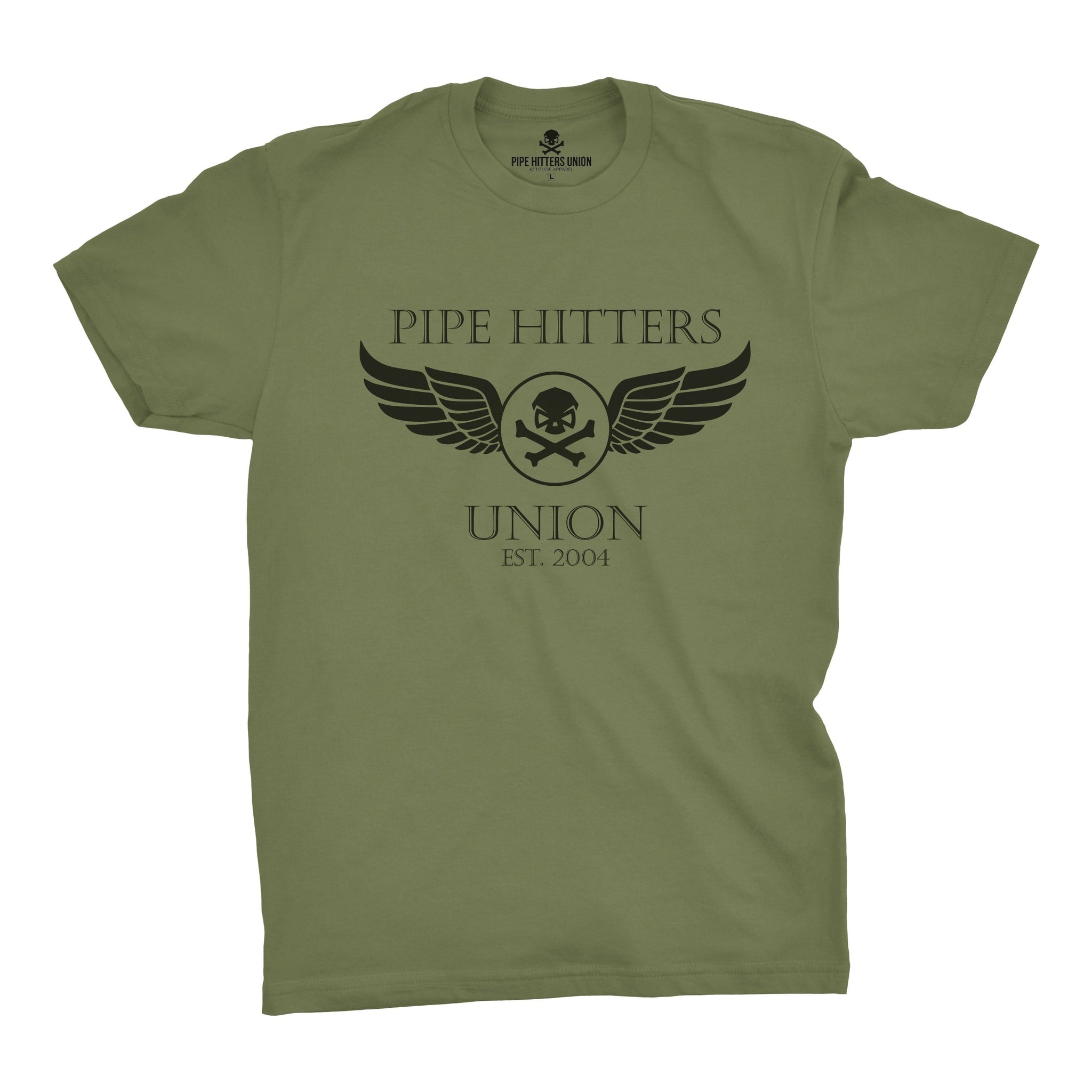 Wings - Military Green - T-Shirts - Pipe Hitters Union
