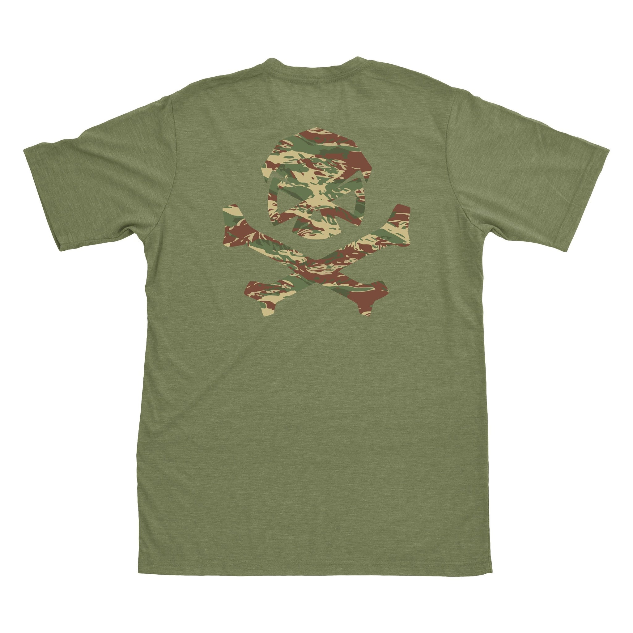 Hitter in the Mist Tee - Military Green/Green_Brushstroke - T-Shirts - Pipe Hitters Union