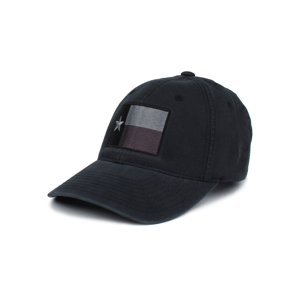Texas Flag (Subdued) - Black/Grey - Hats - Pipe Hitters Union