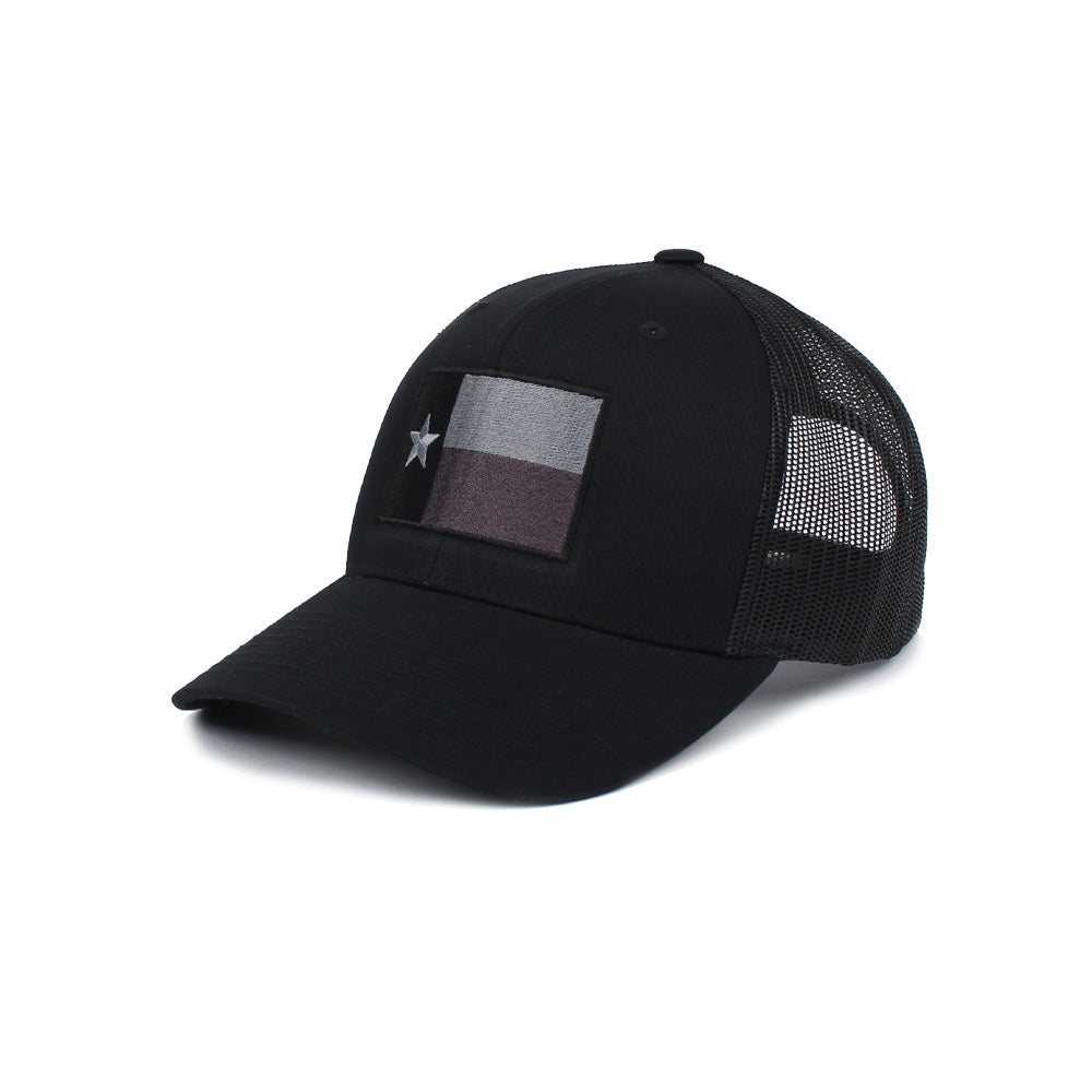 Texas Flag Trucker (Subdued) - Black - Hats - Pipe Hitters Union