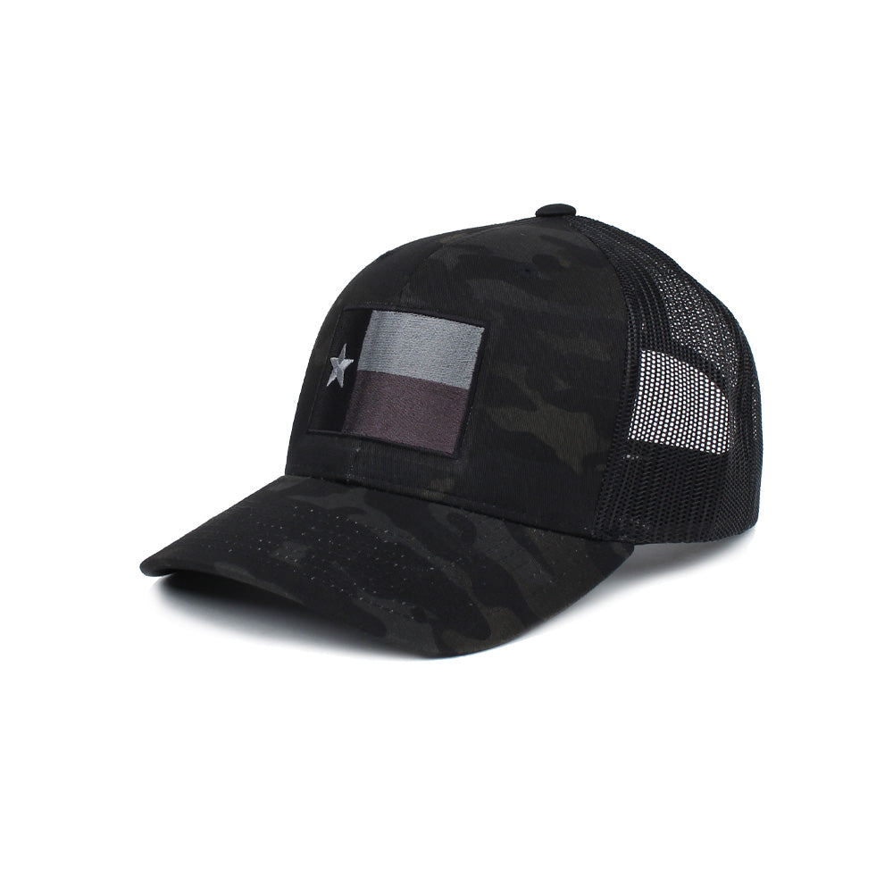 Texas Flag Trucker (Subdued) - BlackMultiCam/Black - Hats - Pipe Hitters Union