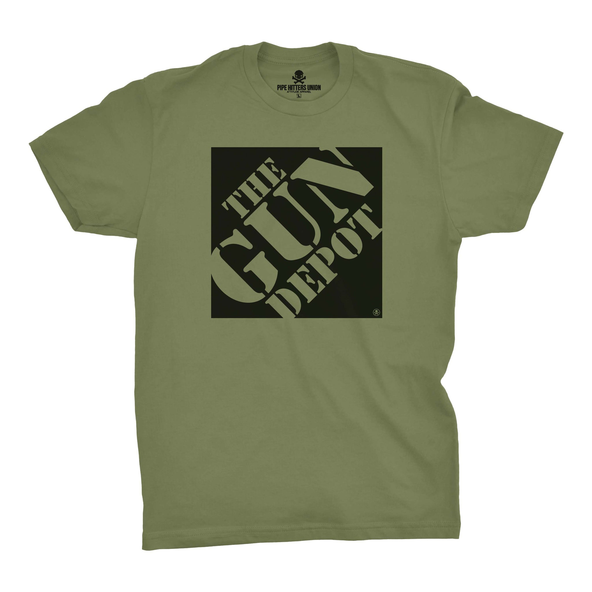 The Gun Depot - Military Green - T-Shirts - Pipe Hitters Union