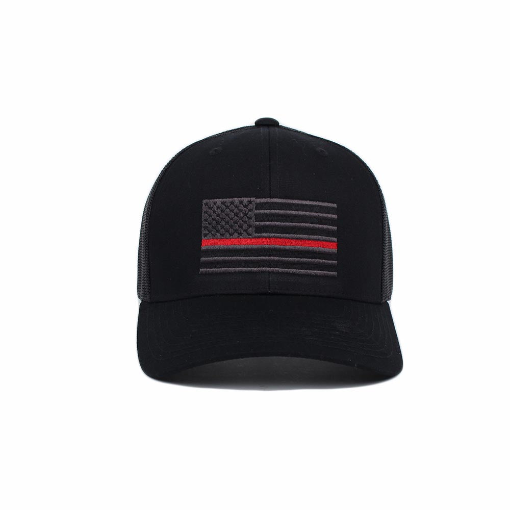 Thin Red Line American Flag Trucker -  - Hats - Pipe Hitters Union
