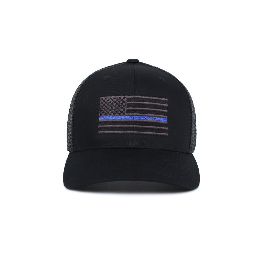 Thin Blue Line American Flag Trucker -  - Hats - Pipe Hitters Union