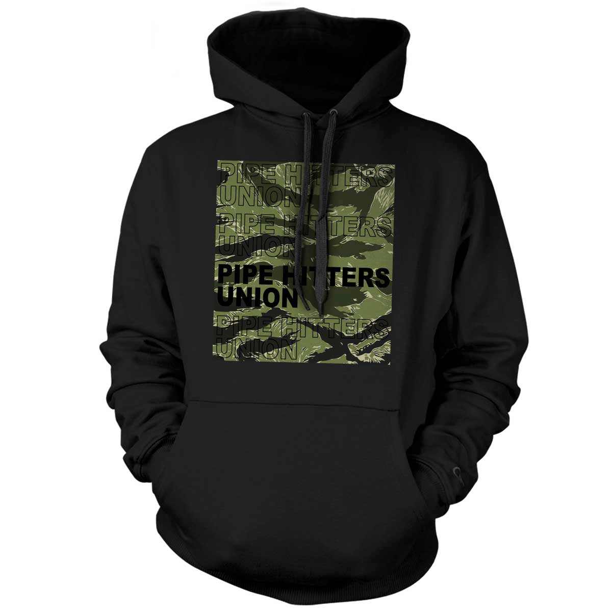 Pipe Hitter Pattern Analysis - Hoodie - Black/Green Tigerstripe - T-Shirts - Pipe Hitters Union