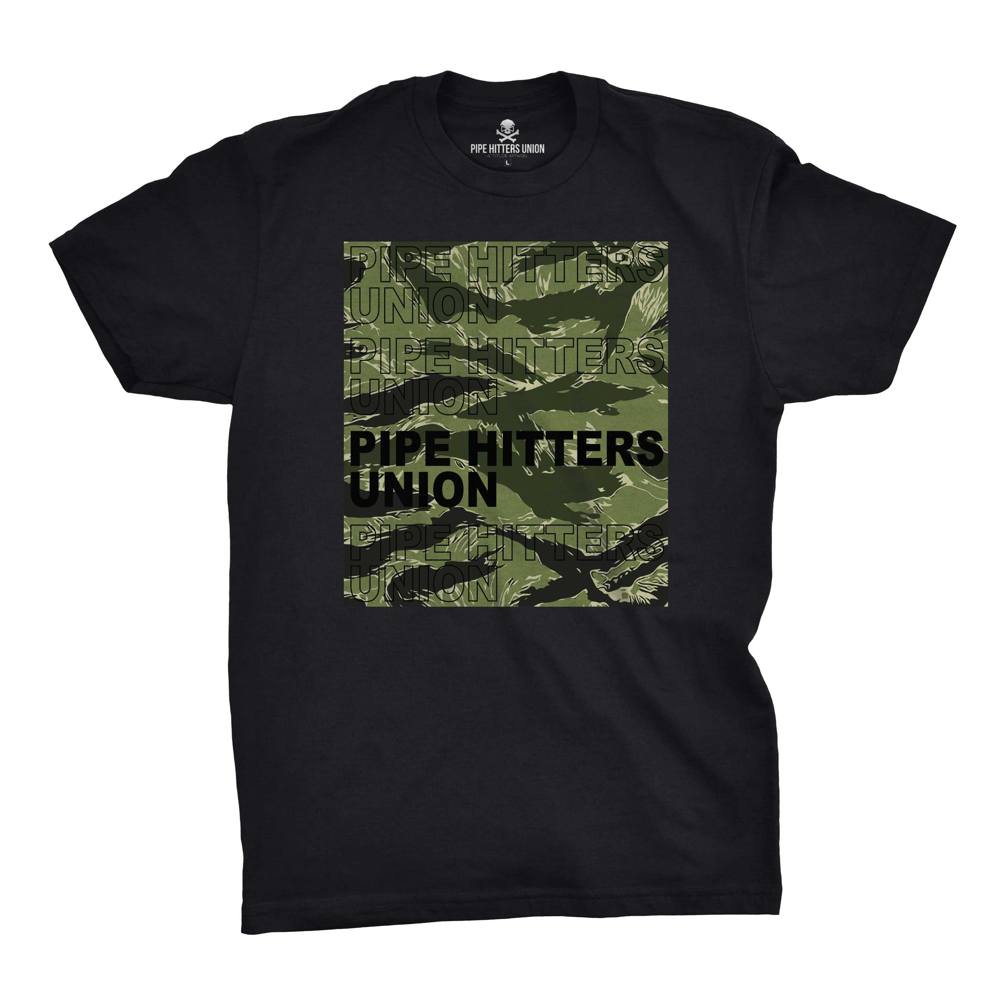 Pipe Hitter Pattern Analysis - Black/Green Tigerstripe - T-Shirts - Pipe Hitters Union