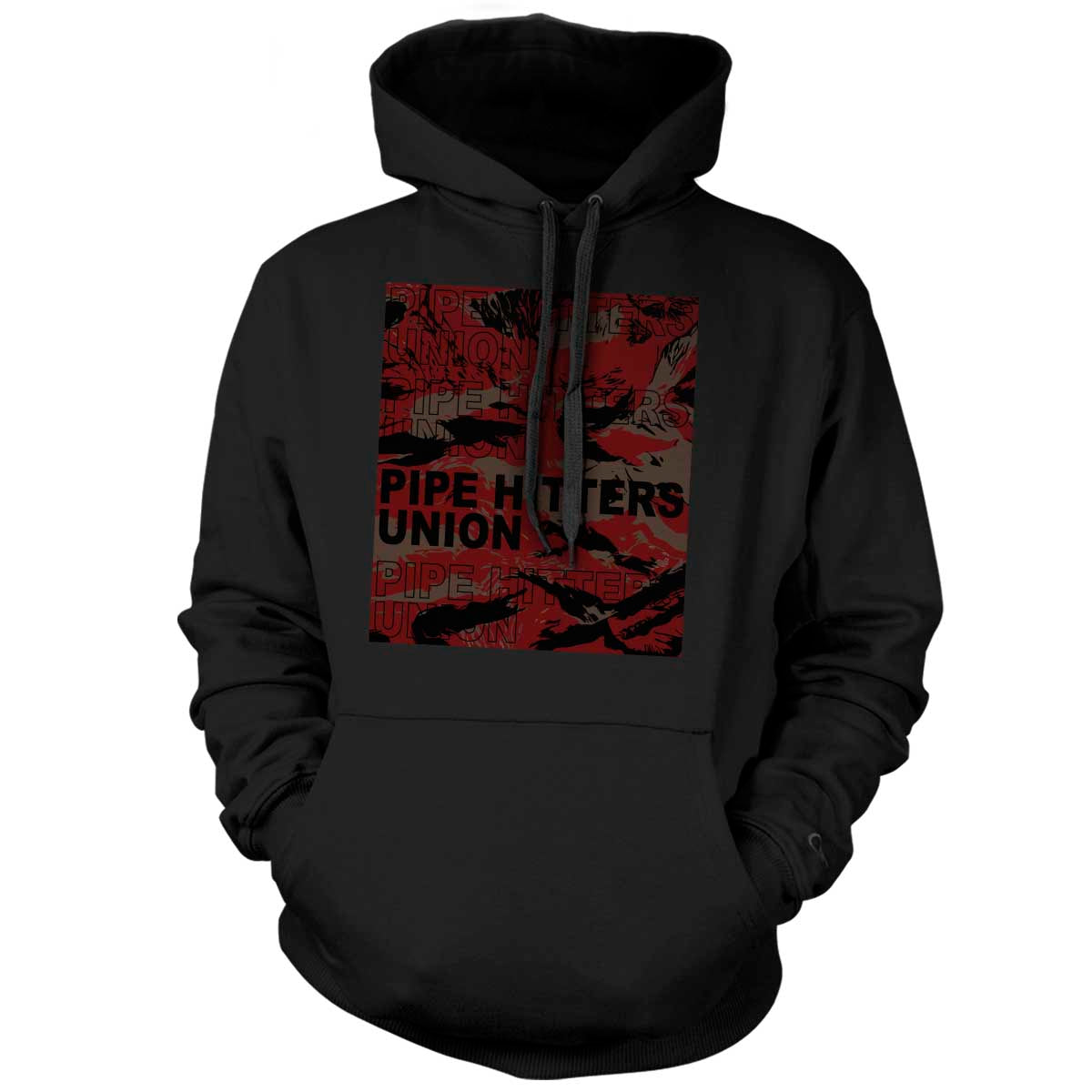 Pipe Hitter Pattern Analysis - Hoodie - Black/Red Tigerstripe - T-Shirts - Pipe Hitters Union