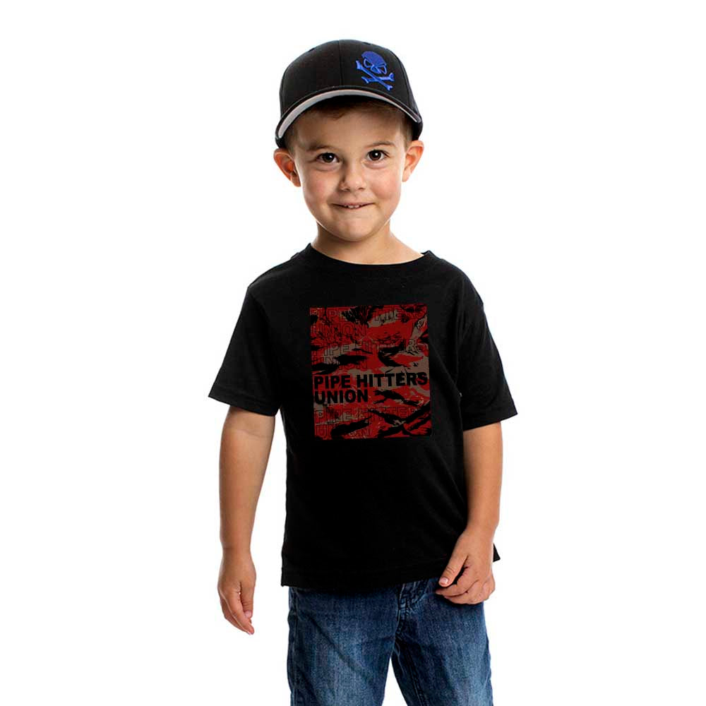 Pipe Hitter Pattern Analysis - Youth - Black/Red Tigerstripe - T-Shirts - Pipe Hitters Union