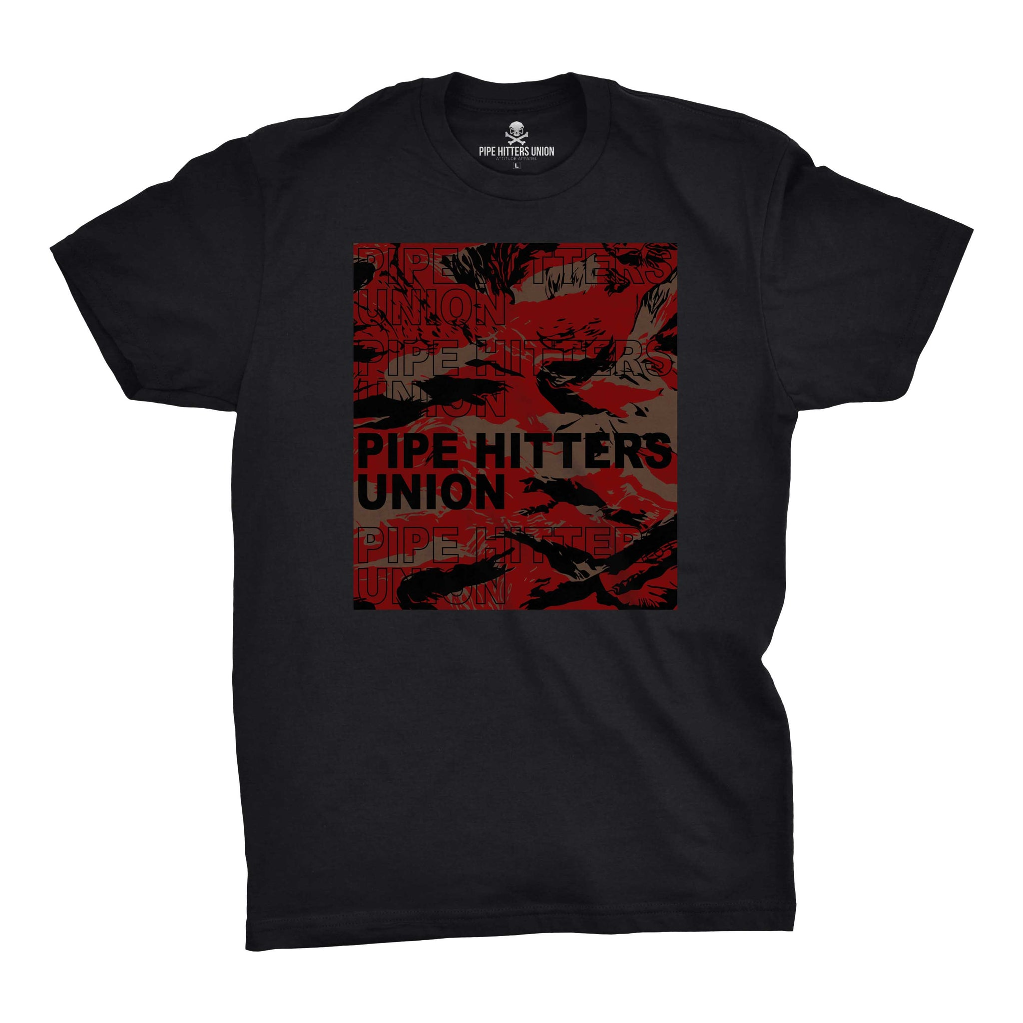 Pipe Hitter Pattern Analysis - Black/Red Tigerstripe - T-Shirts - Pipe Hitters Union