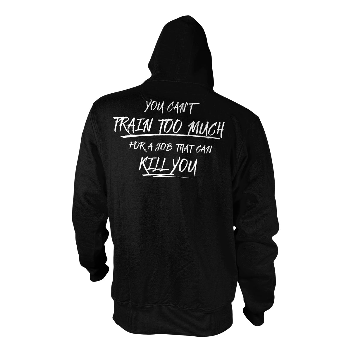 You Can't Train Too Much Hoodie - Black - Hoodies - Pipe Hitters Union