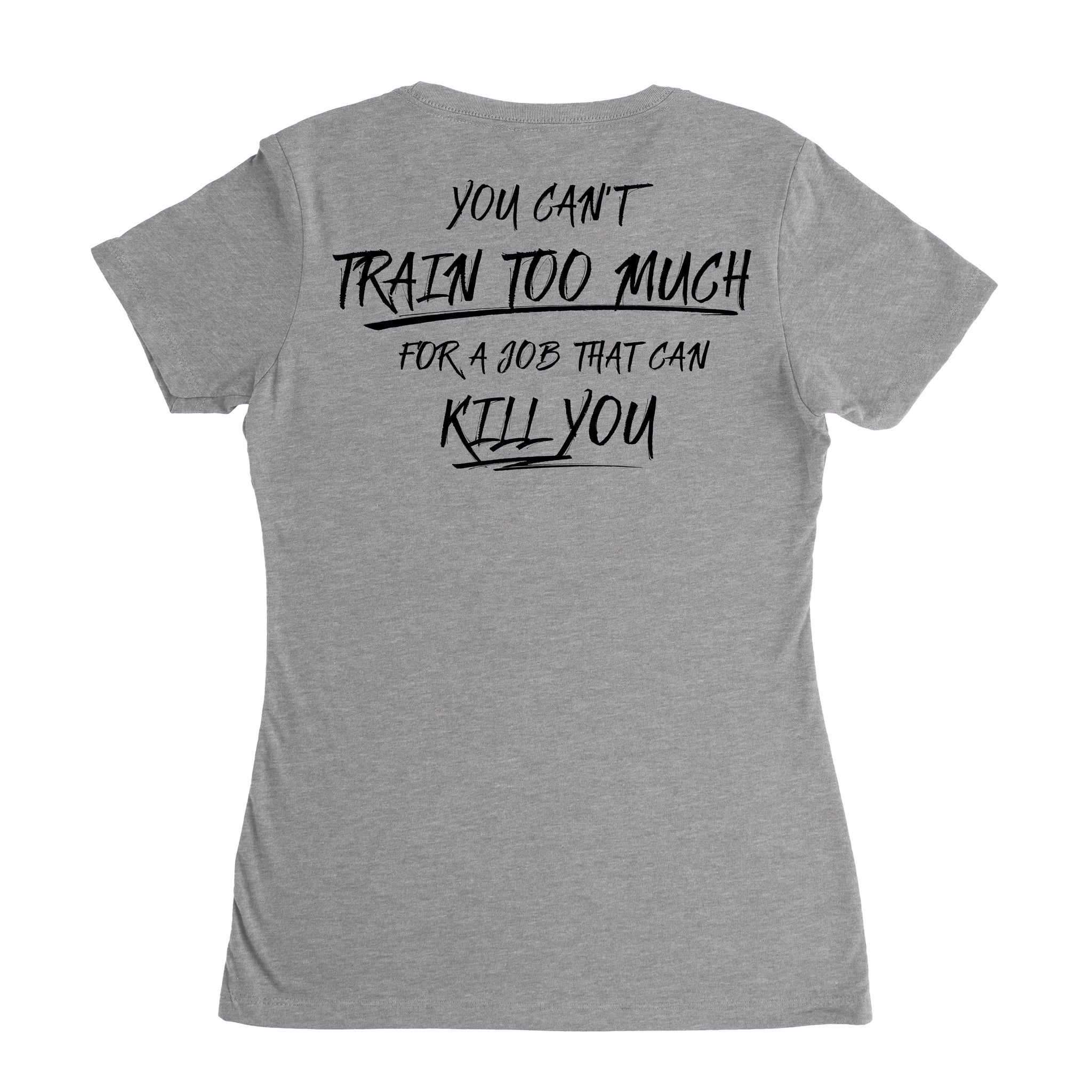 You Can't Train Too Much (V-Neck) - Grey - T-Shirts - Pipe Hitters Union