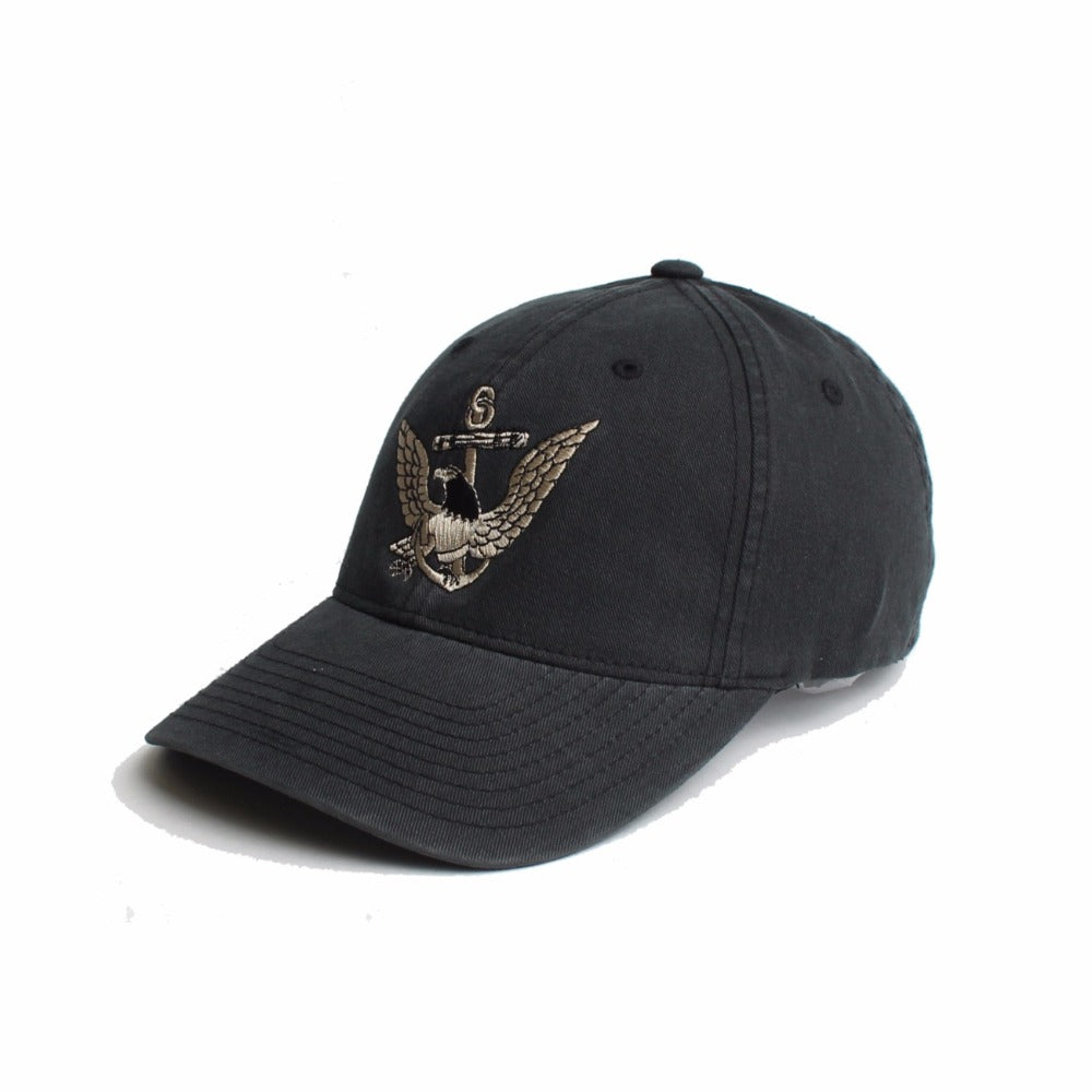 US Navy Eagle Anchor - Black - Hats - Pipe Hitters Union