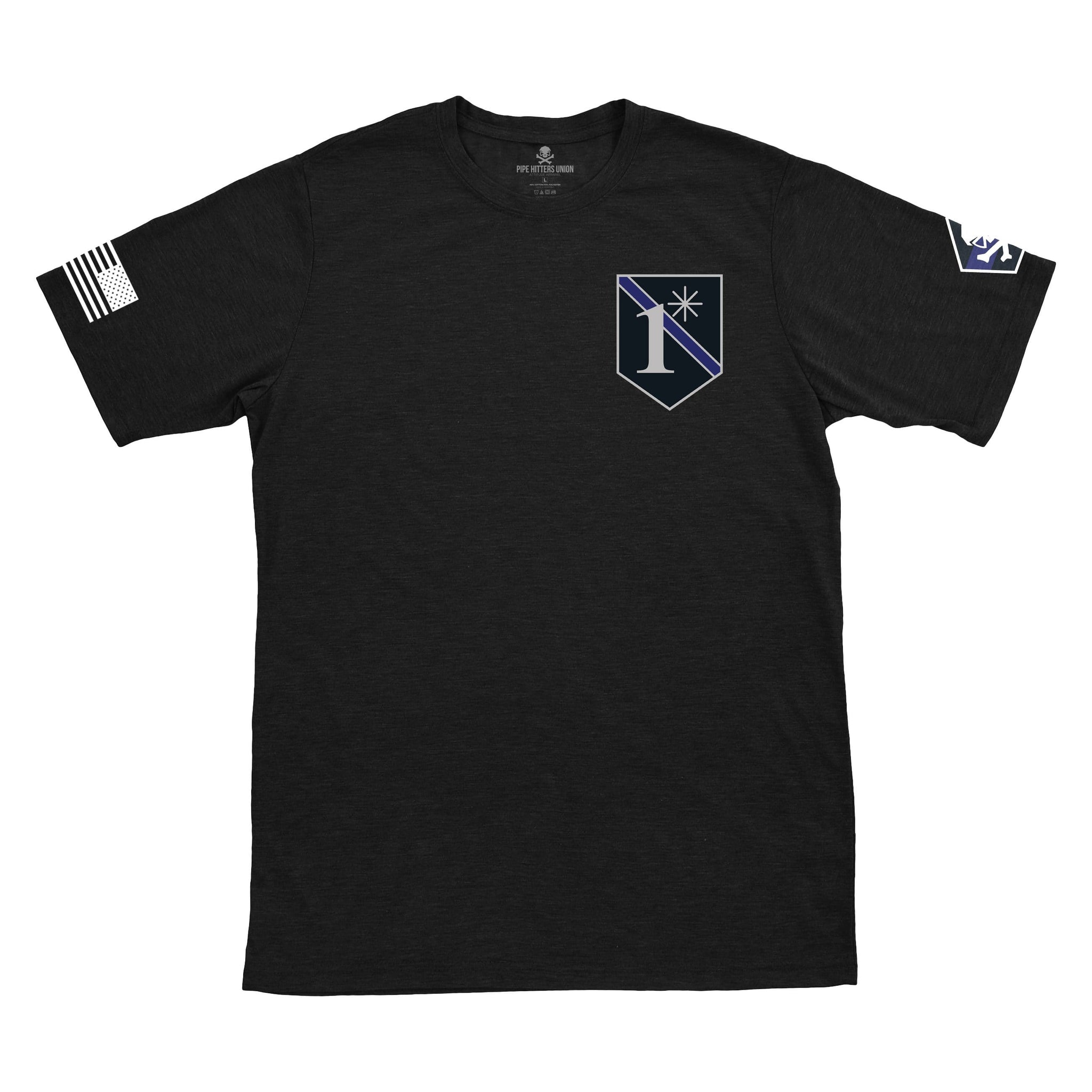United We Stand - Texas Blue Line Tee -  - T-Shirts - Pipe Hitters Union