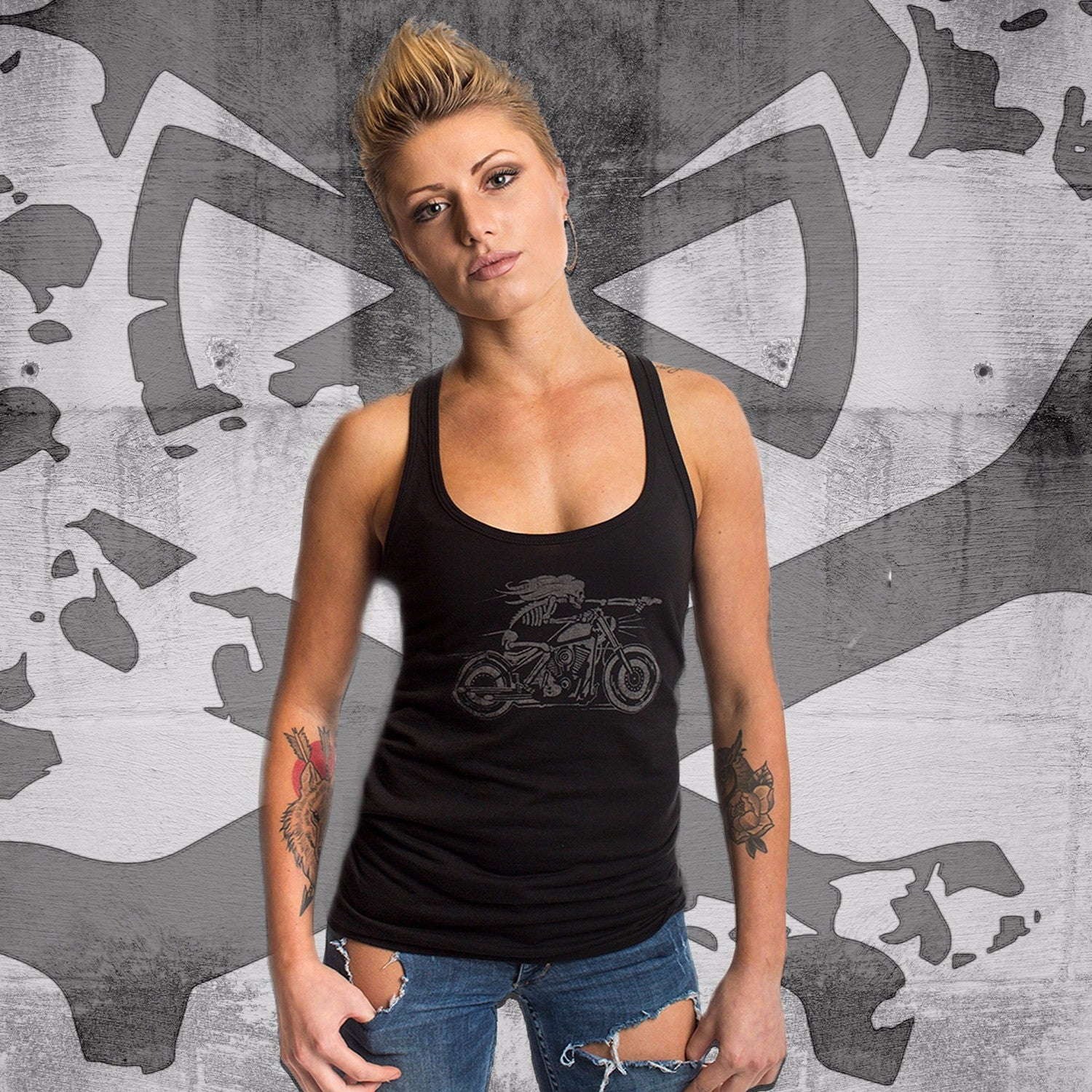 Motorcycle Tank - Black - T-Shirts - Pipe Hitters Union