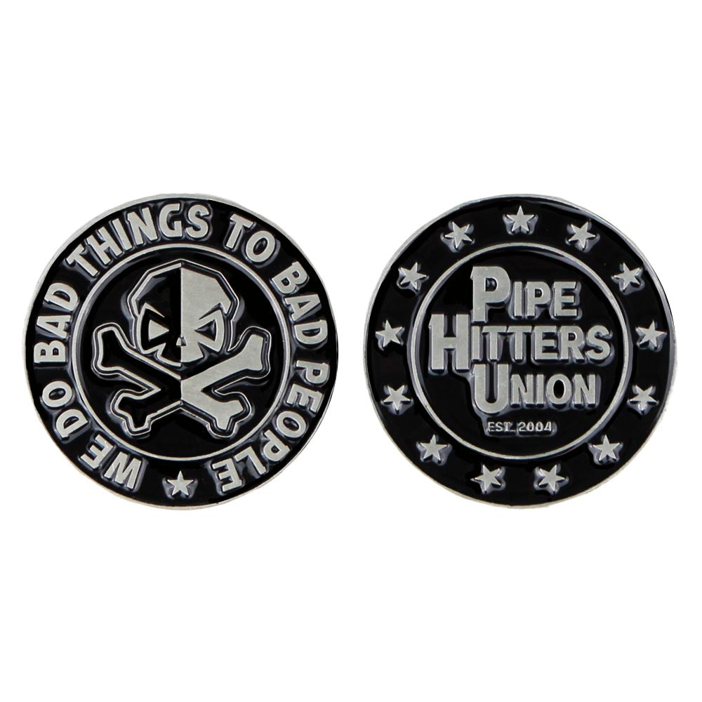 We Do Bad Things Challenge Coin - Stainless - Challenge Coin - Pipe Hitters Union