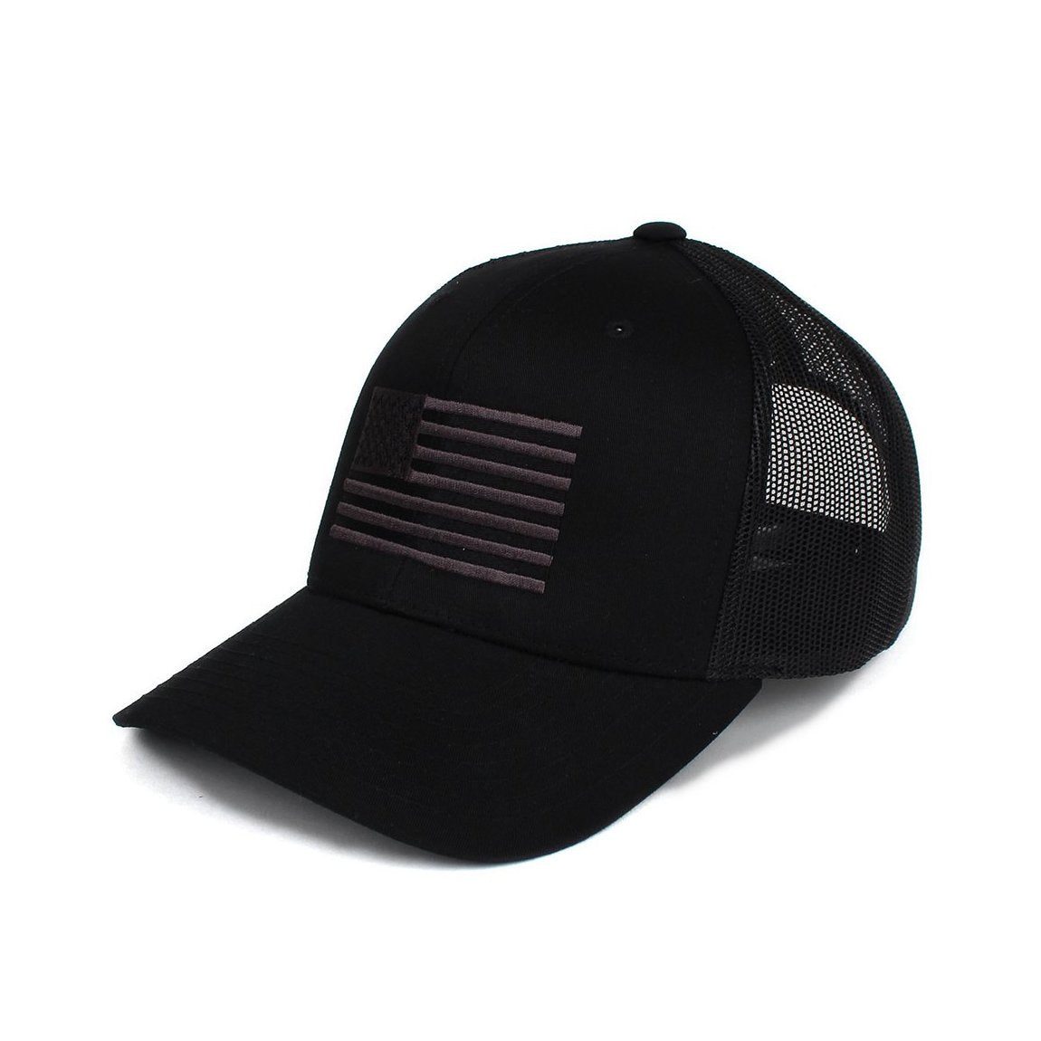 American Flag Trucker - Black/Grey - Hats - Pipe Hitters Union