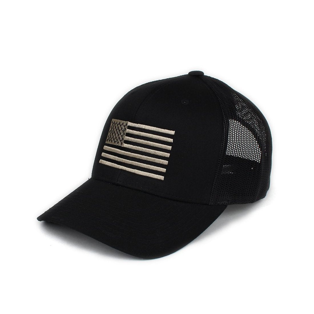 American Flag Trucker - Black/Pewter - Hats - Pipe Hitters Union