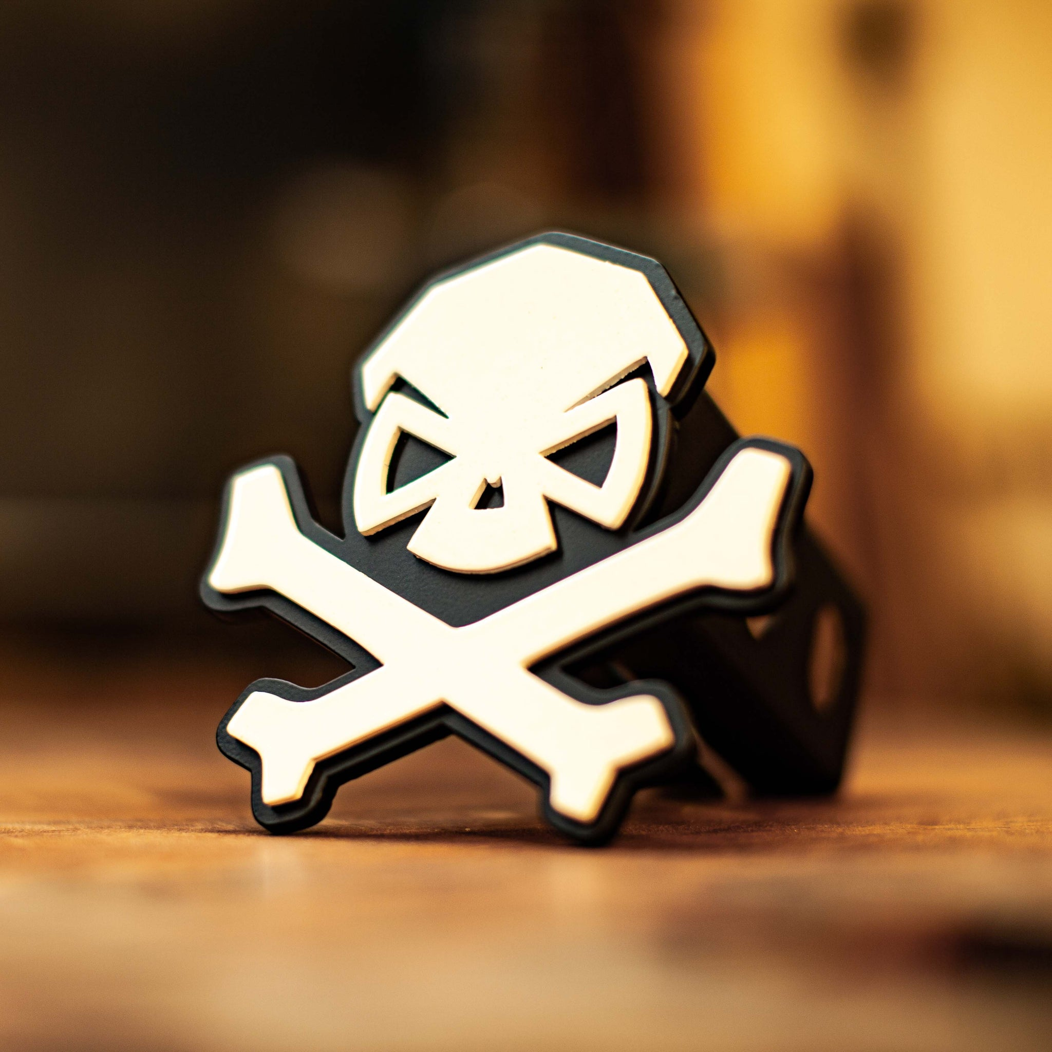 PHU Skull & Bones Trailer Hitch Cover