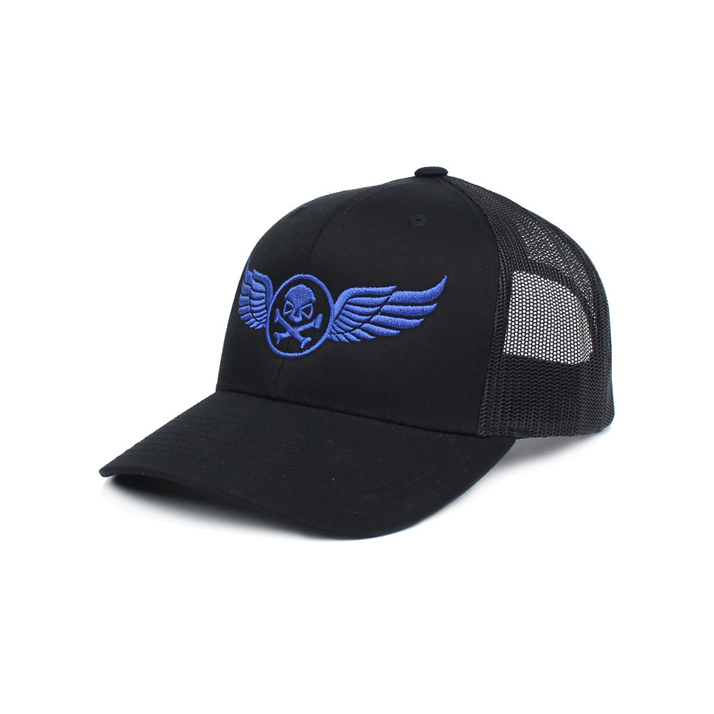 PHU Wings Trucker - Black/Blue - Hats - Pipe Hitters Union