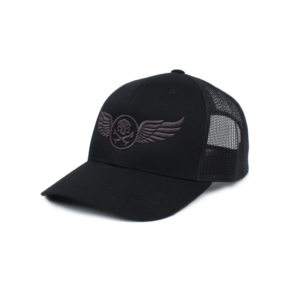 PHU Wings Trucker - Black/Gray - Hats - Pipe Hitters Union