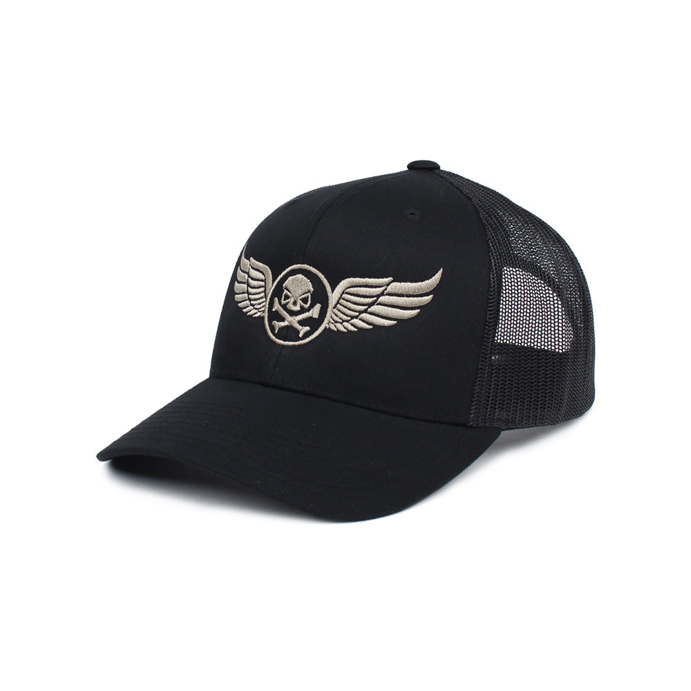 PHU Wings Trucker - Black/Pewter - Hats - Pipe Hitters Union