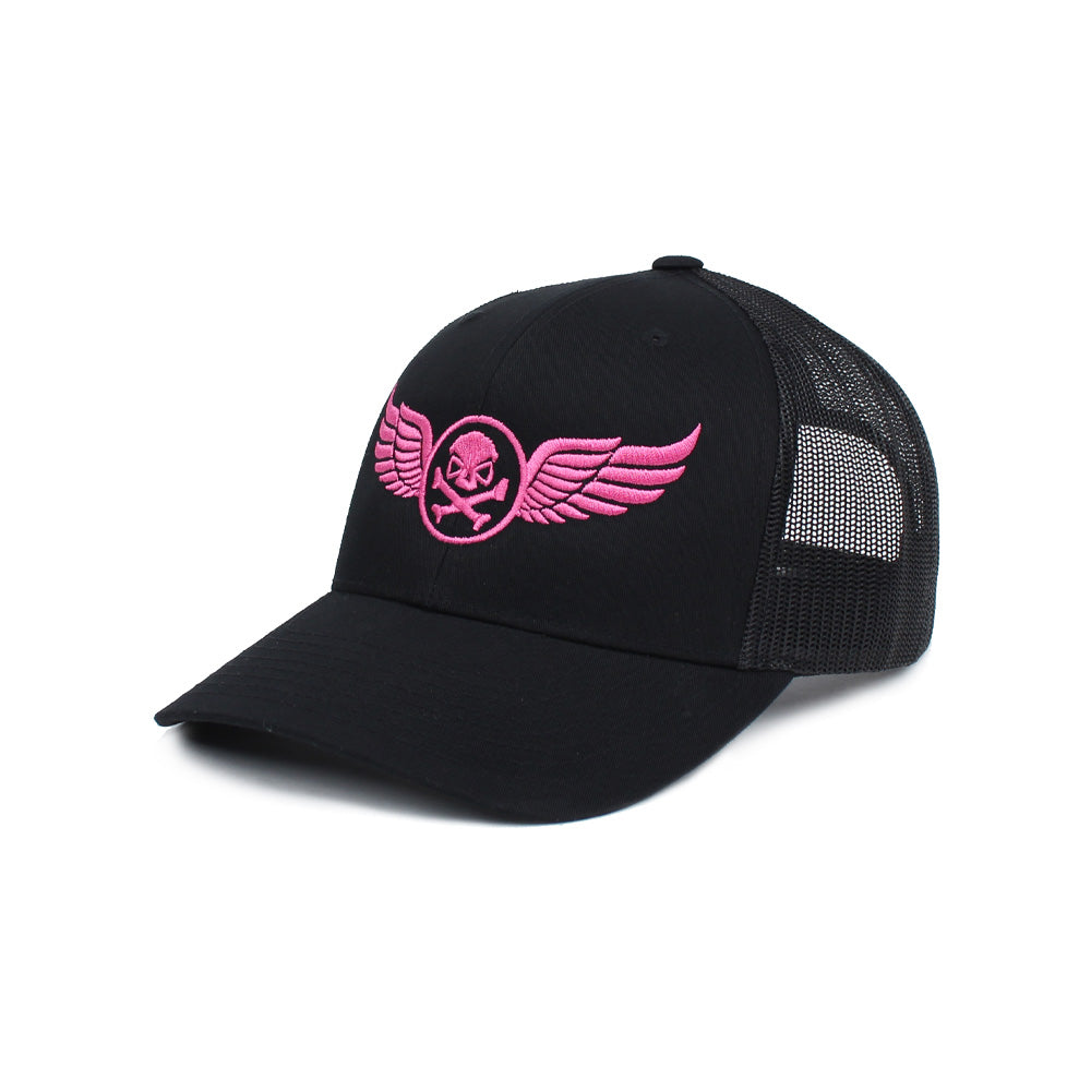PHU Wings Trucker - Black/Pink - Hats - Pipe Hitters Union