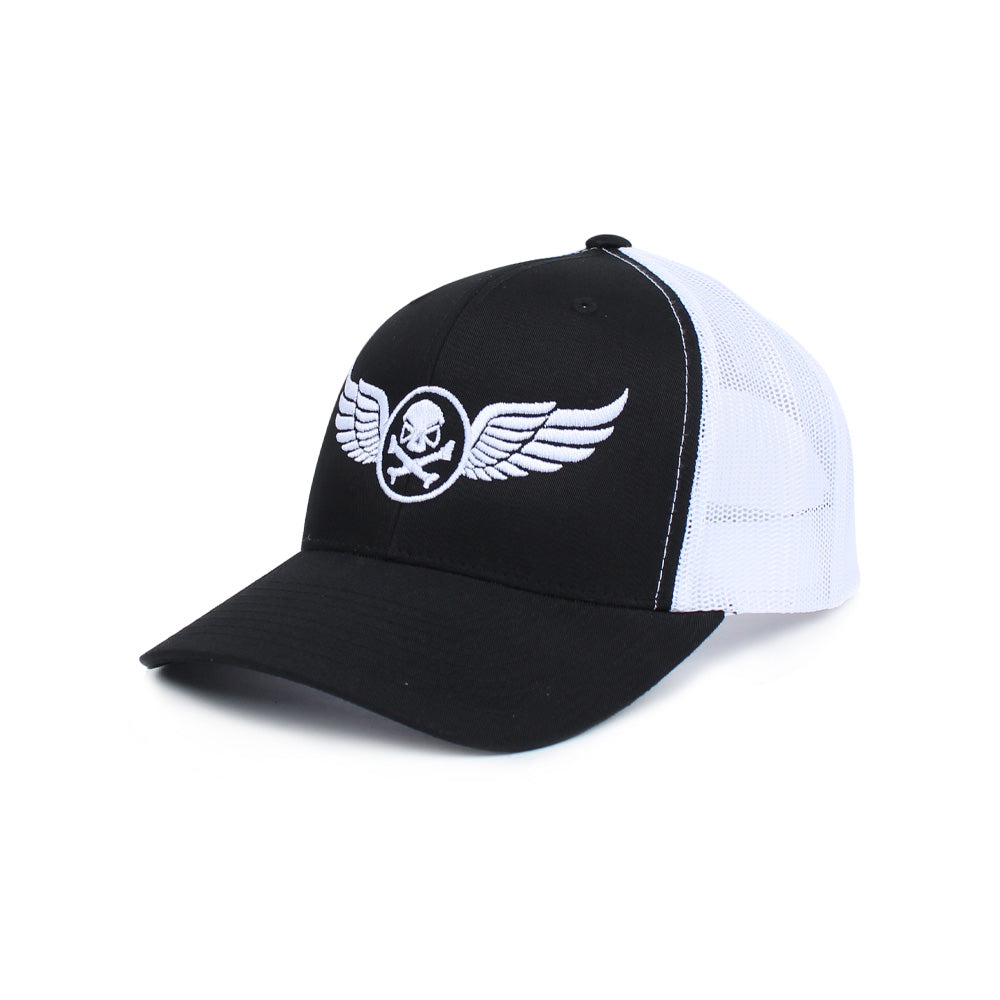 PHU Wings Trucker - Black/White - Hats - Pipe Hitters Union