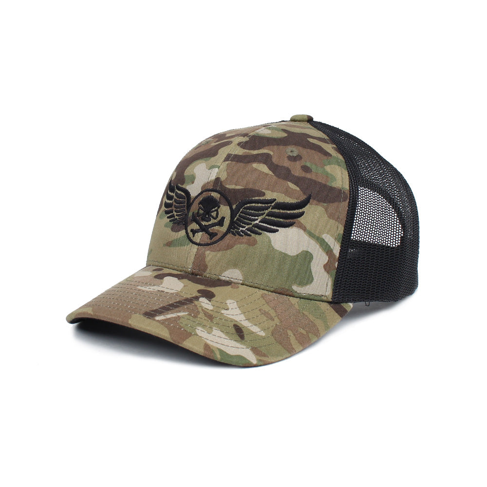 PHU Wings Trucker - GreenMultiCam/Black - Hats - Pipe Hitters Union