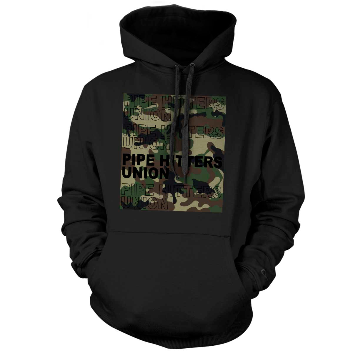 Pipe Hitter Pattern Analysis - Hoodie - Black/Woodland Camo - T-Shirts - Pipe Hitters Union