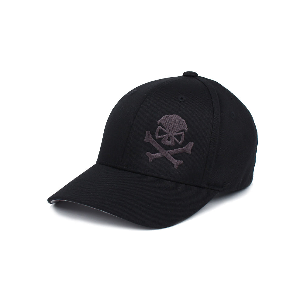 Skull & Cross Bones - Youth - Black/Grey - Hats - Pipe Hitters Union