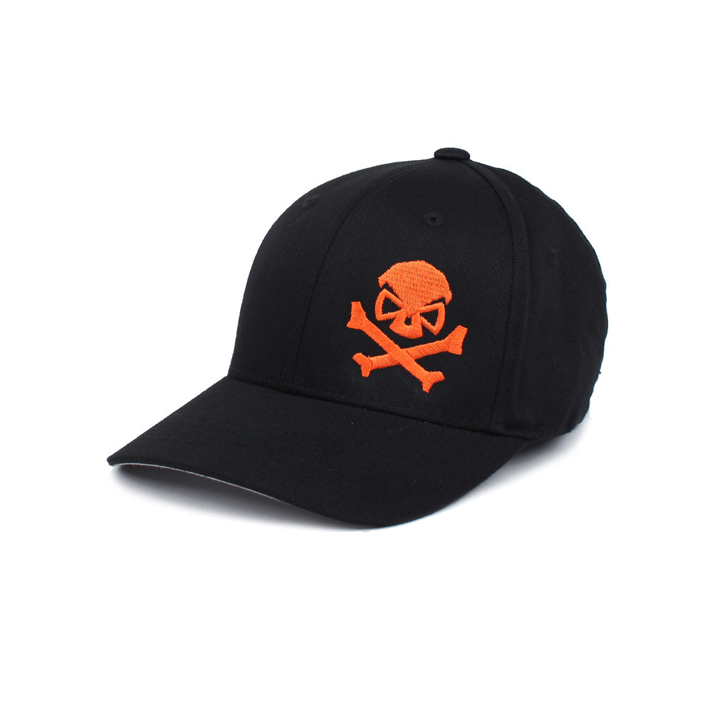 Skull & Cross Bones - Youth - Black/Orange - Hats - Pipe Hitters Union