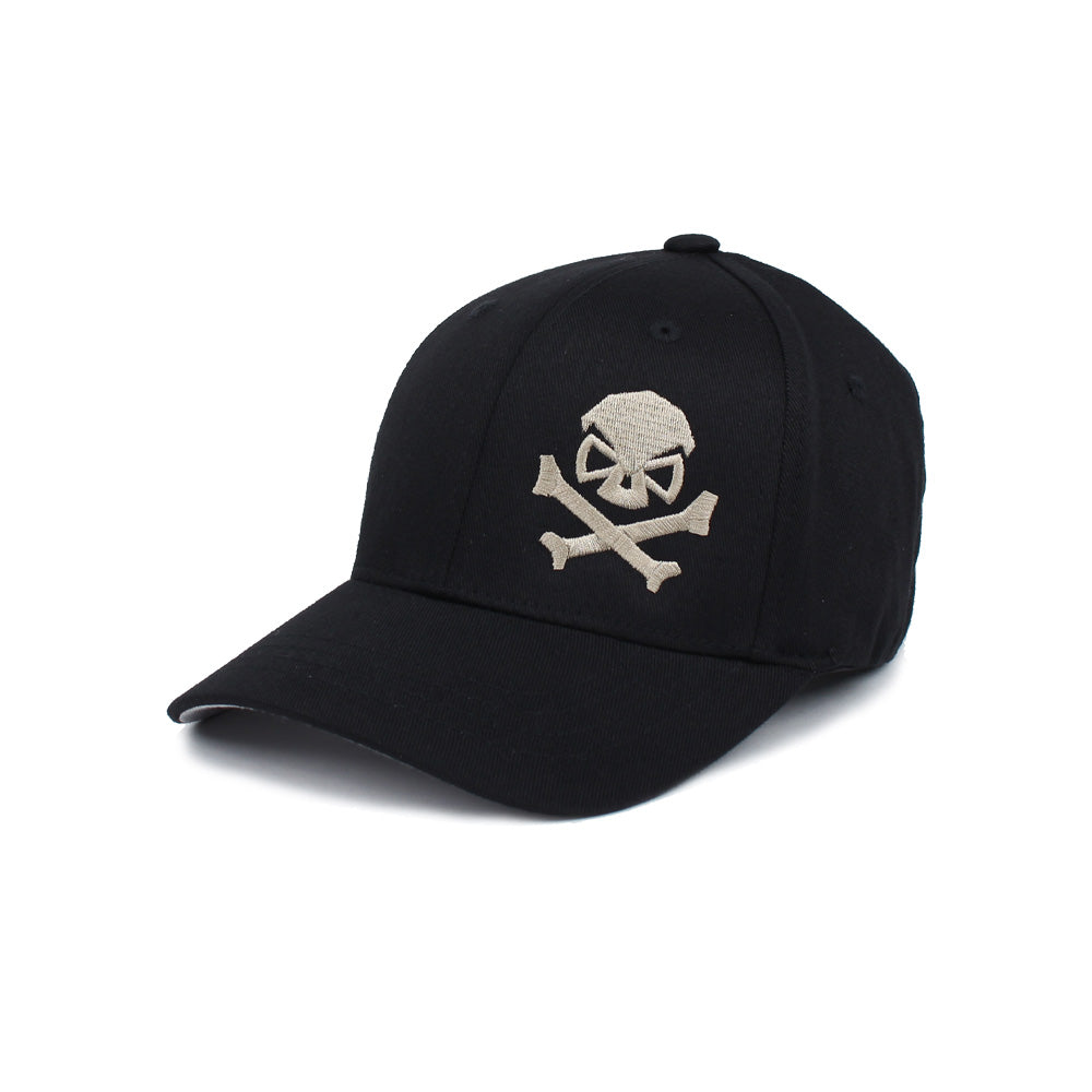 Skull & Cross Bones - Youth - Black/Pewter - Hats - Pipe Hitters Union