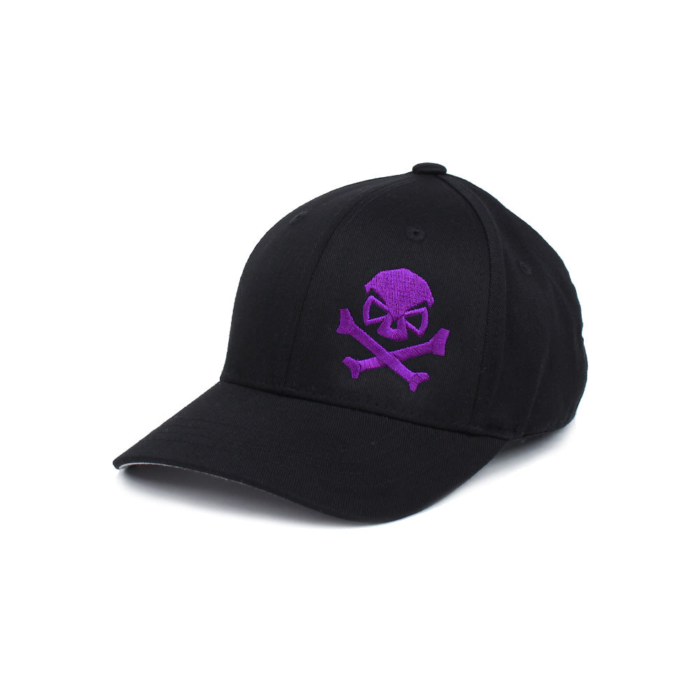 Skull & Cross Bones - Youth - Black/Purple - Hats - Pipe Hitters Union