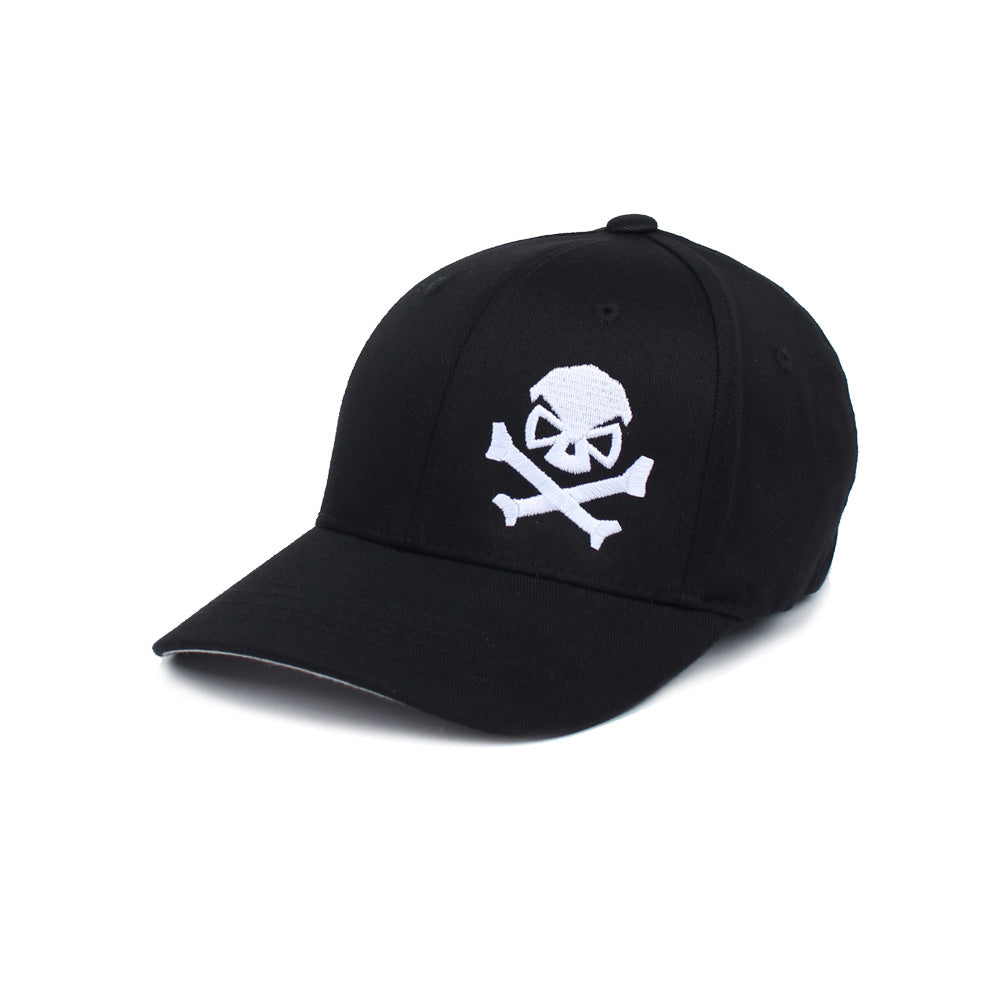 Skull & Cross Bones - Youth - Black/White - Hats - Pipe Hitters Union