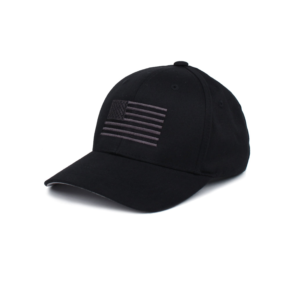 American Flag - Youth - Black/Grey - Hats - Pipe Hitters Union