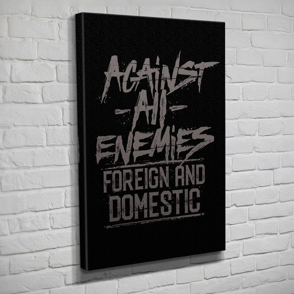 Against All Enemies - Canvas - Black/Grey - Canvas - Pipe Hitters Union