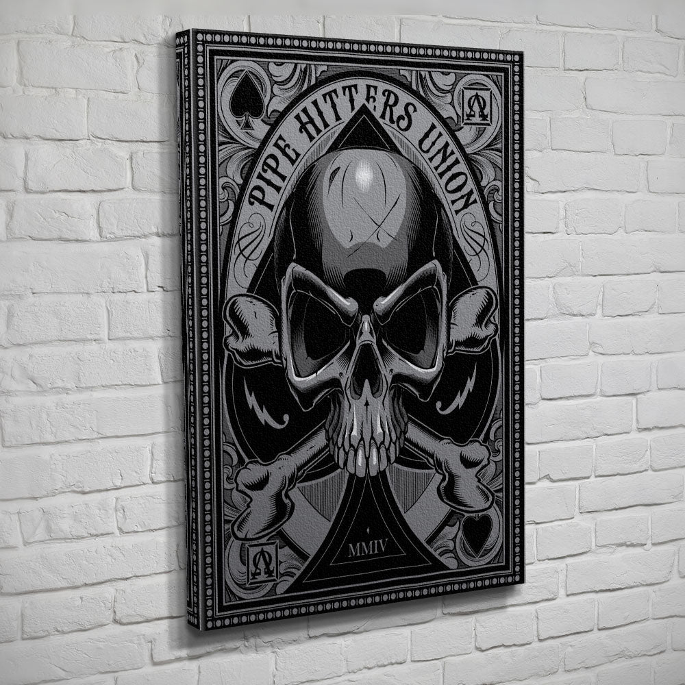 Death Card - Ace - Canvas - Black/Grey - Canvas - Pipe Hitters Union
